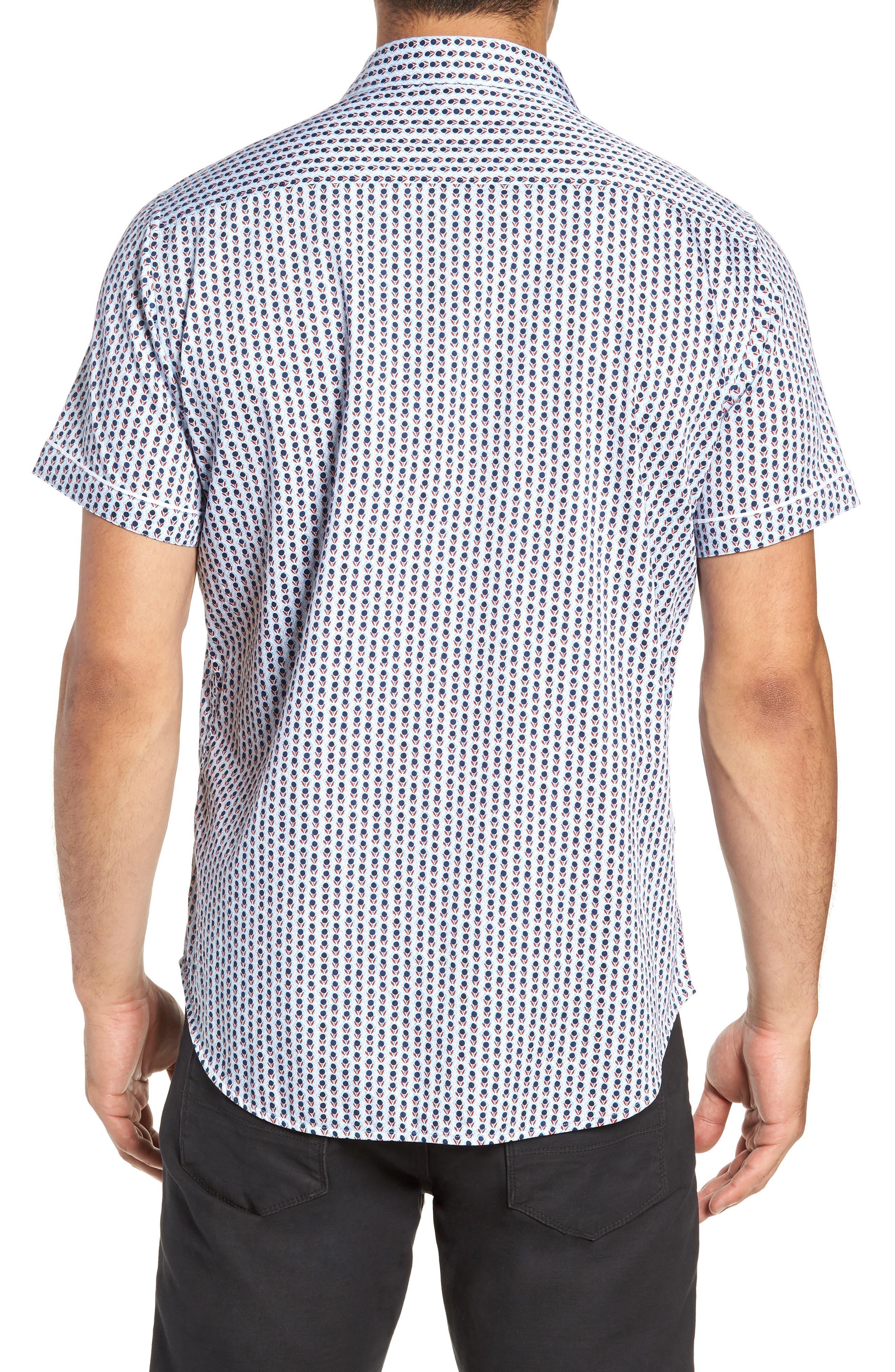 Westward Classic Fit Stripe Sport Shirt,                             Alternate thumbnail 3, color,                             CREAM
