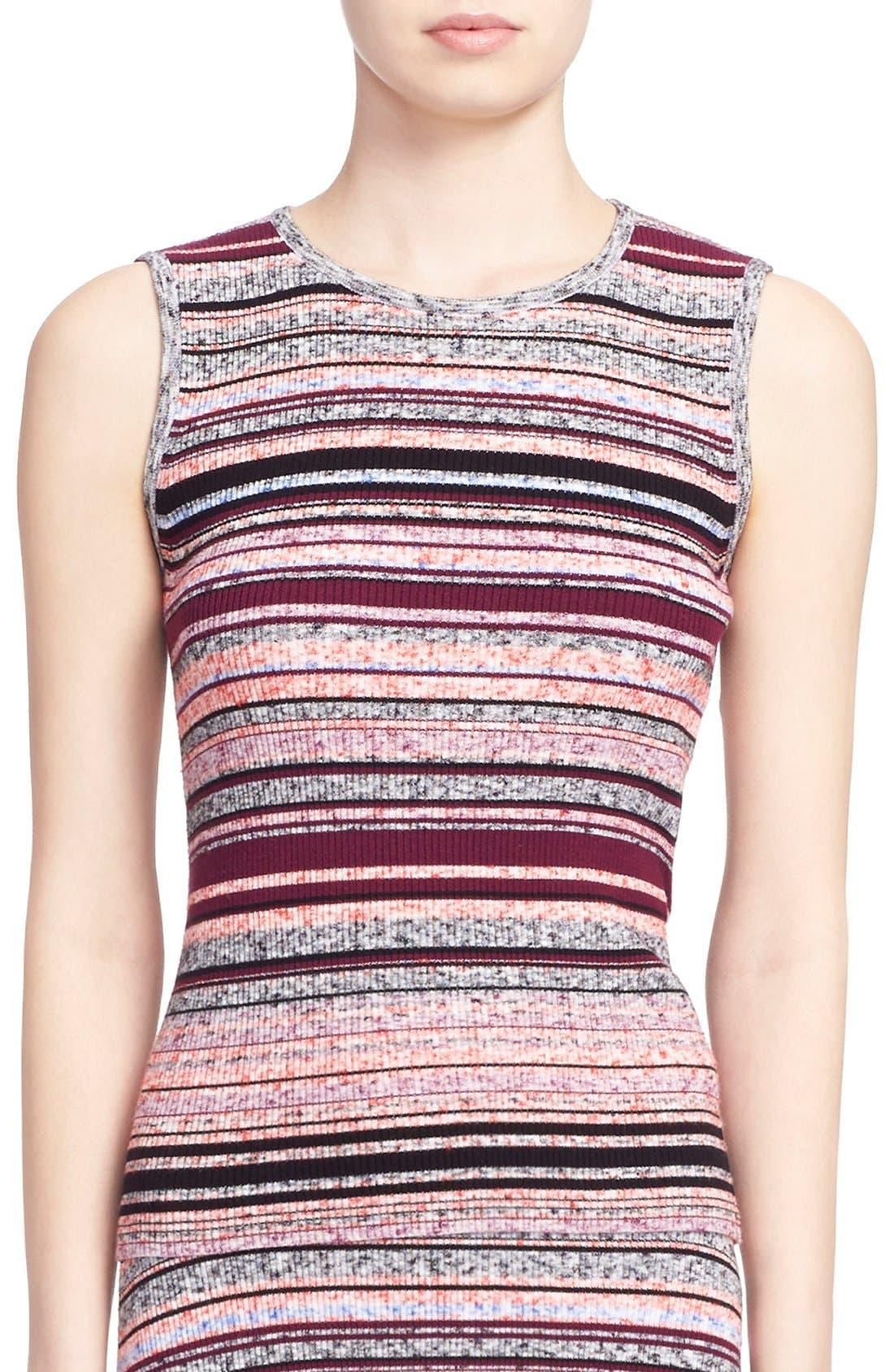 'Ash' Stripe Sleeveless Ribbed Top,                         Main,                         color, 930
