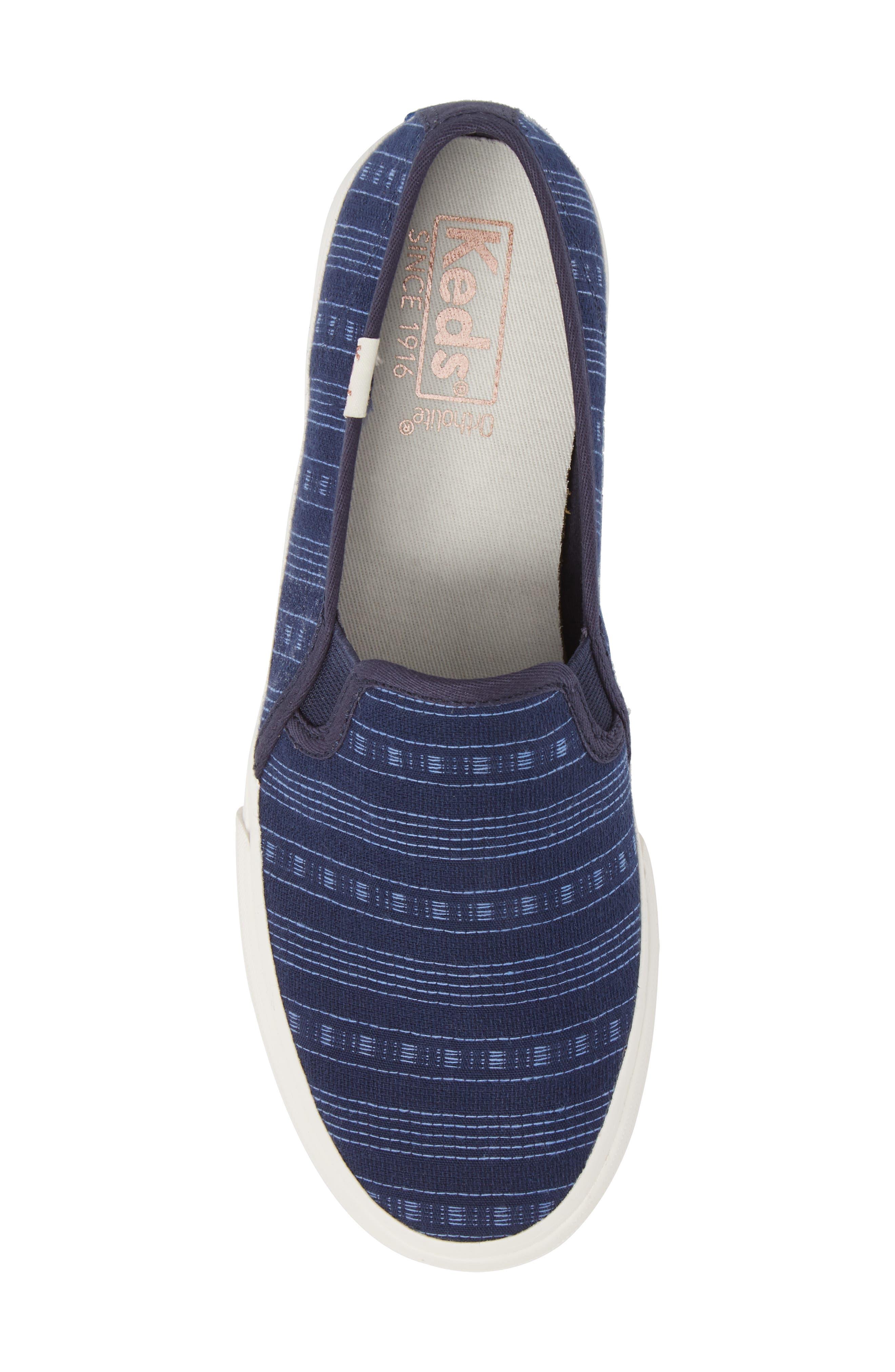 Double Decker Summer Stripe Slip-On Sneaker,                             Alternate thumbnail 5, color,                             410