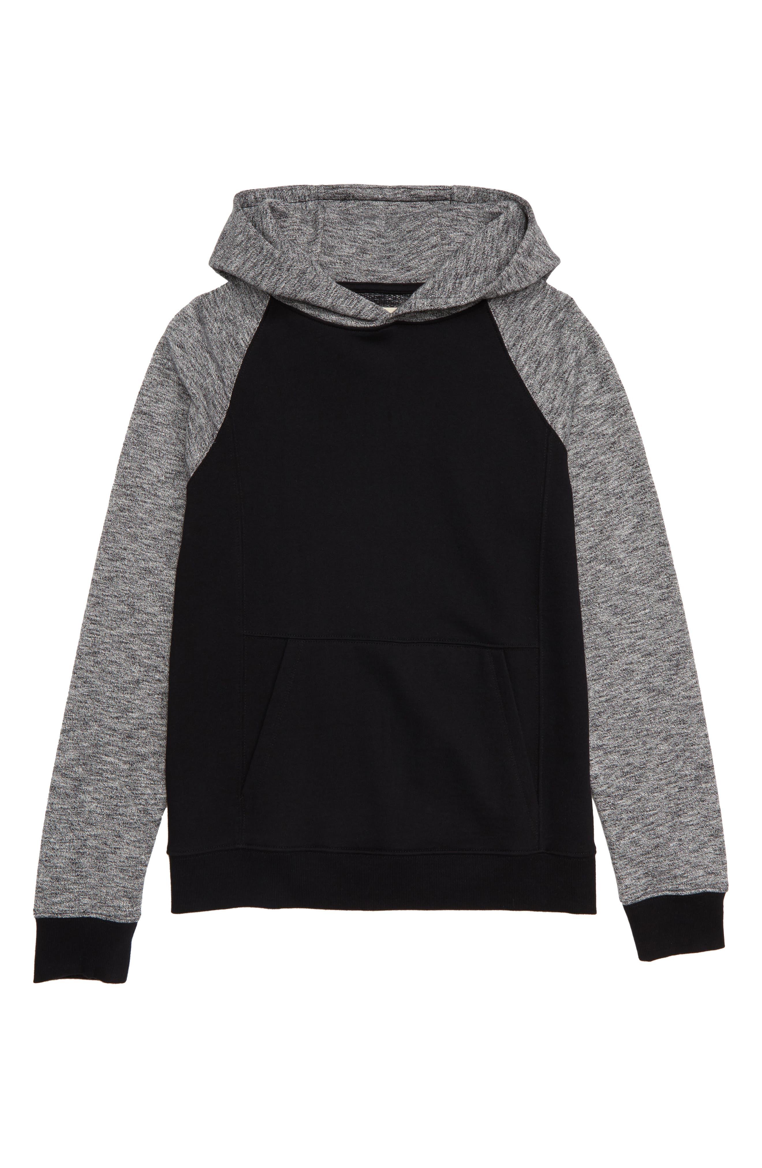Fleece Hooded Pullover,                             Main thumbnail 1, color,                             001
