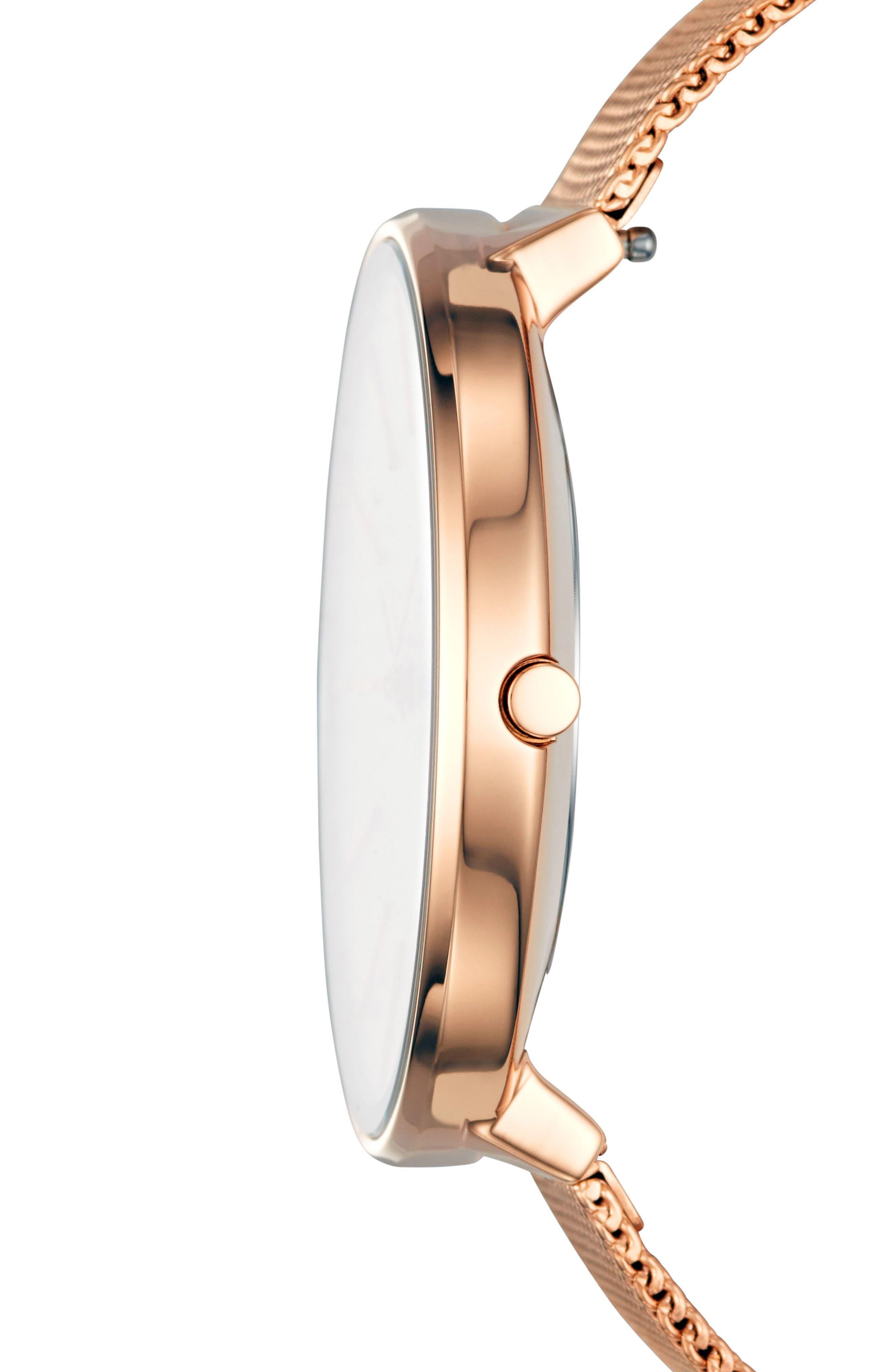 Karolina Mesh Strap Watch, 38mm,                             Alternate thumbnail 2, color,                             ROSE GOLD