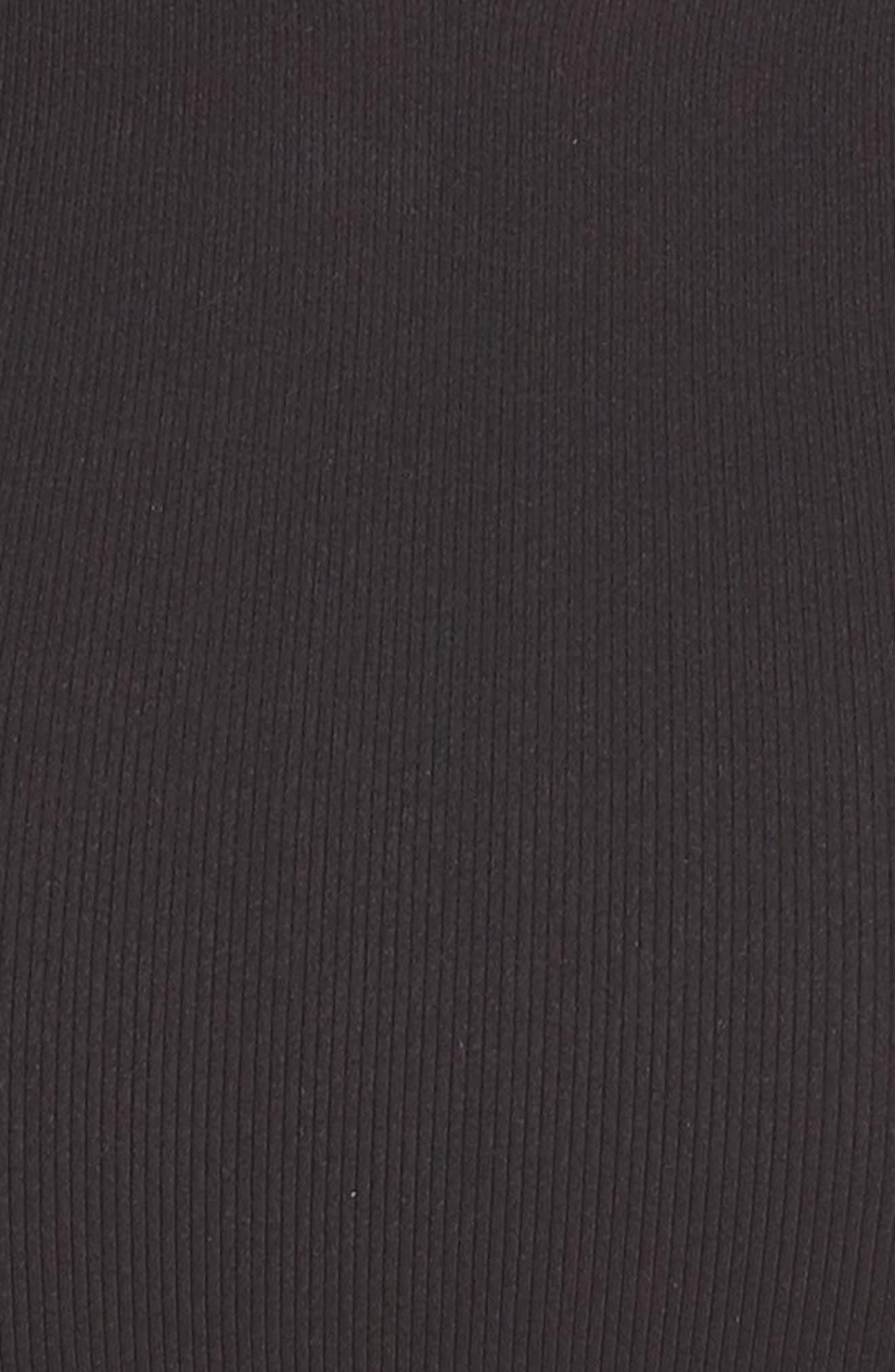 BP.,                             Maya Ribbed Racerback Bralette,                             Alternate thumbnail 6, color,                             BLACK