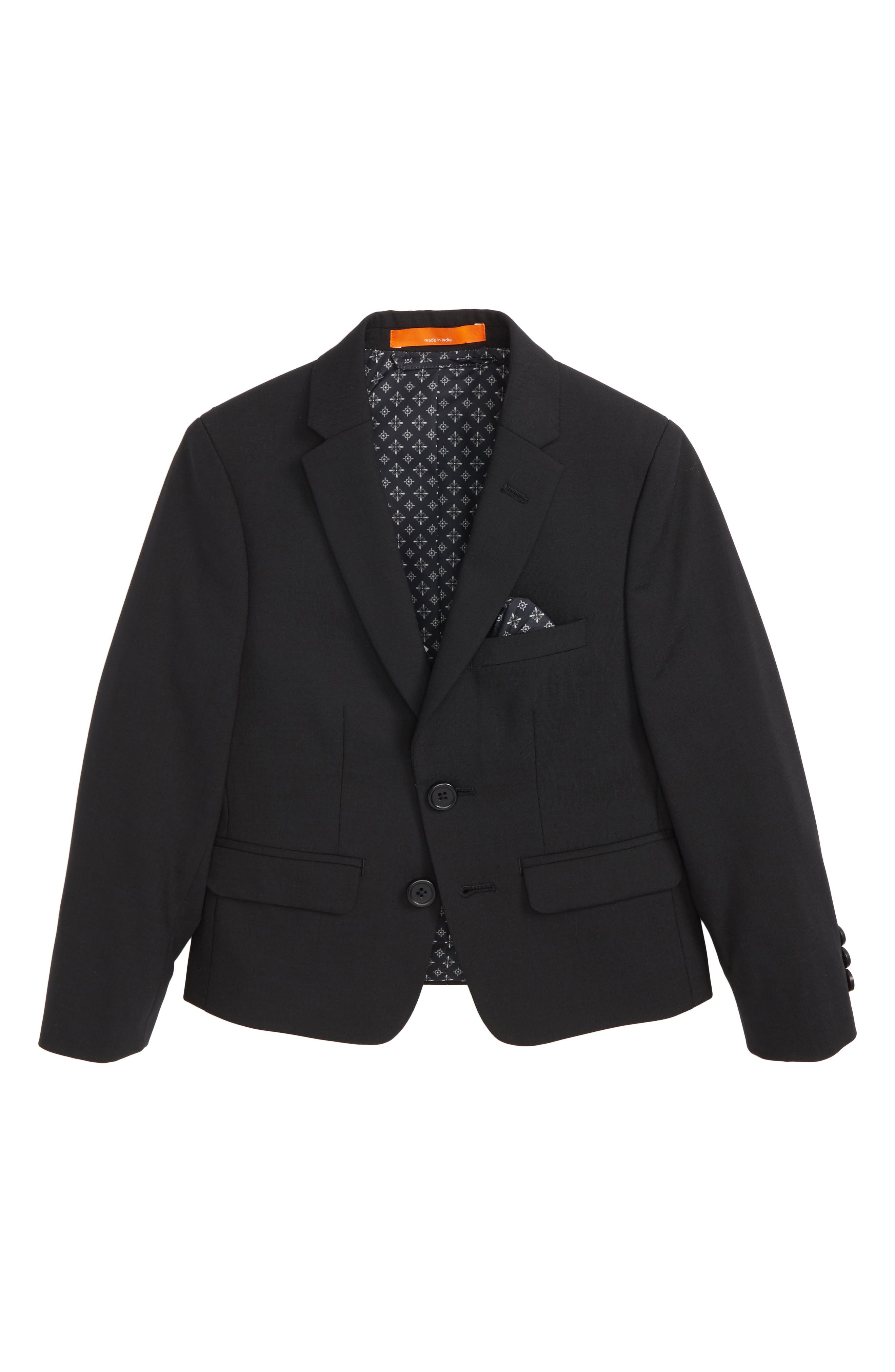 Solid Wool Blend Sport Coat,                             Main thumbnail 1, color,                             BLACK