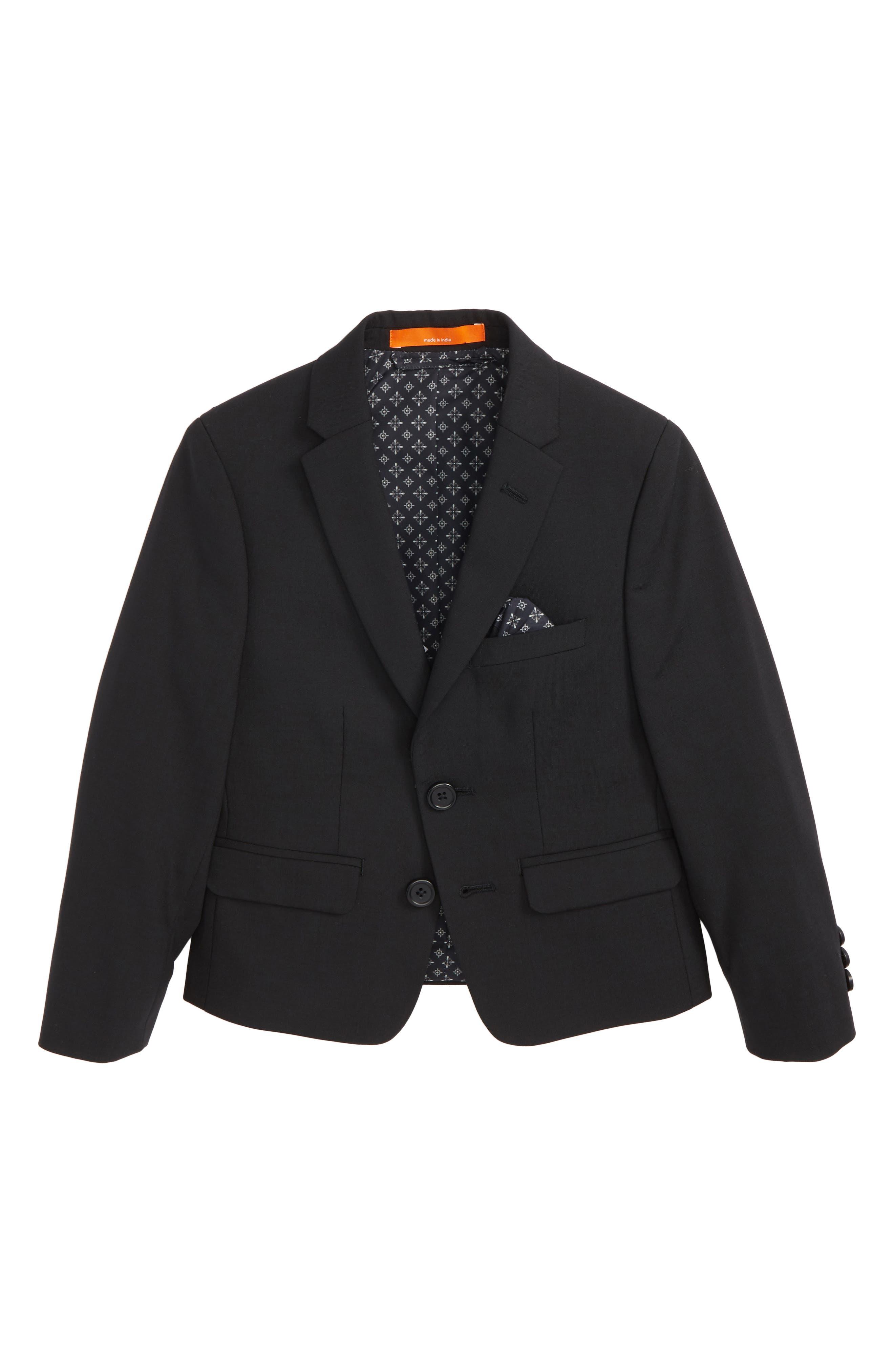 Solid Wool Blend Sport Coat,                         Main,                         color, BLACK
