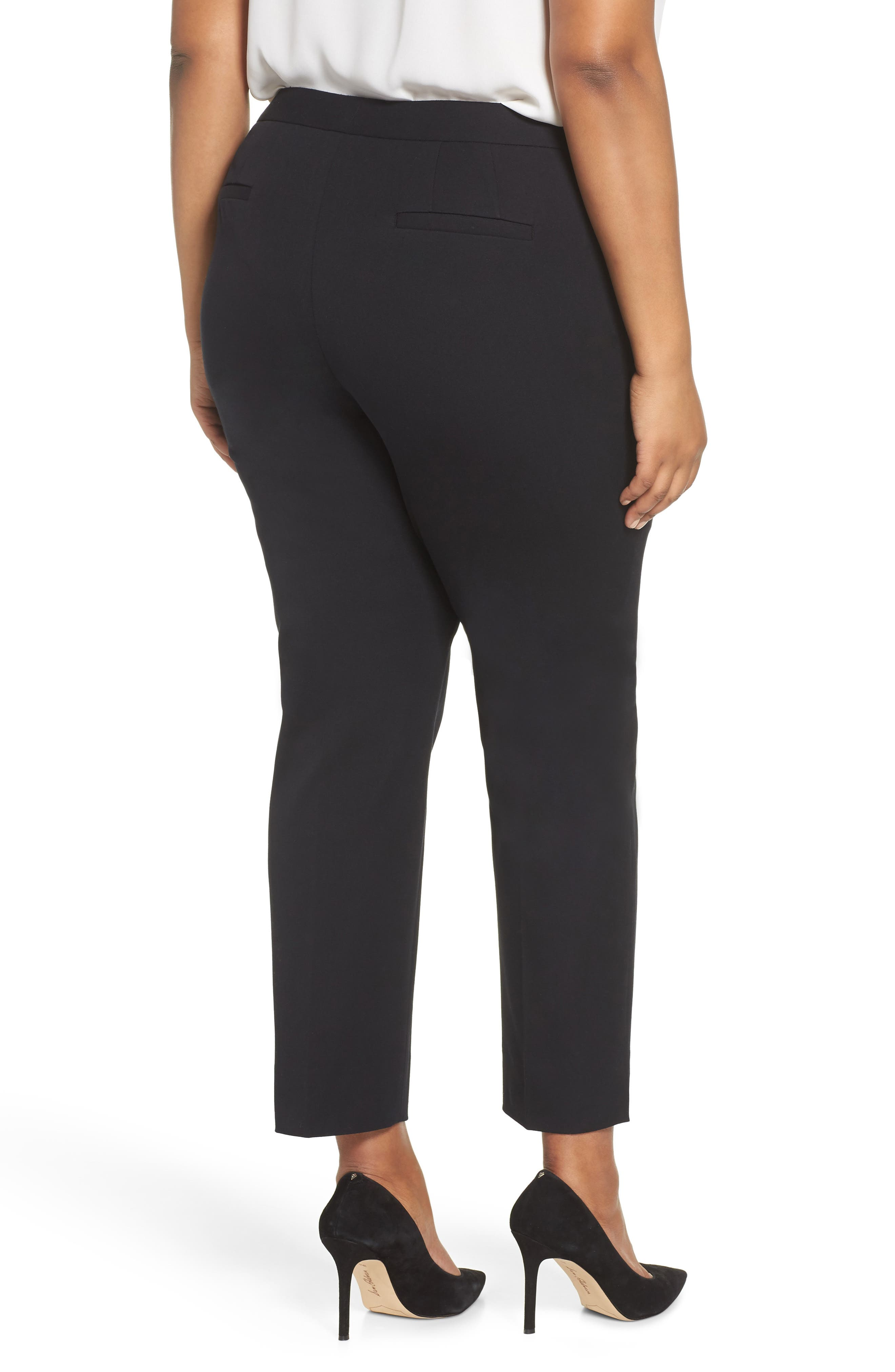Zip Taper Pants,                             Alternate thumbnail 2, color,                             BLACK