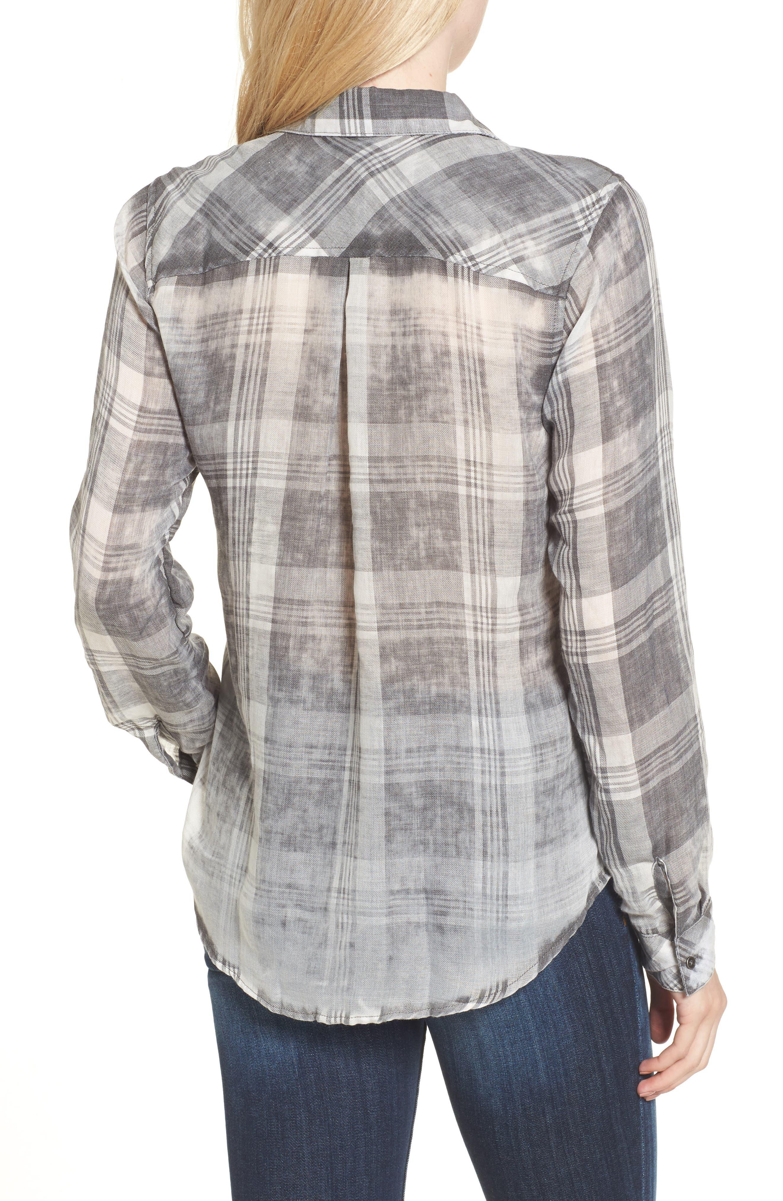Conor Burnout Plaid Shirt,                             Alternate thumbnail 2, color,