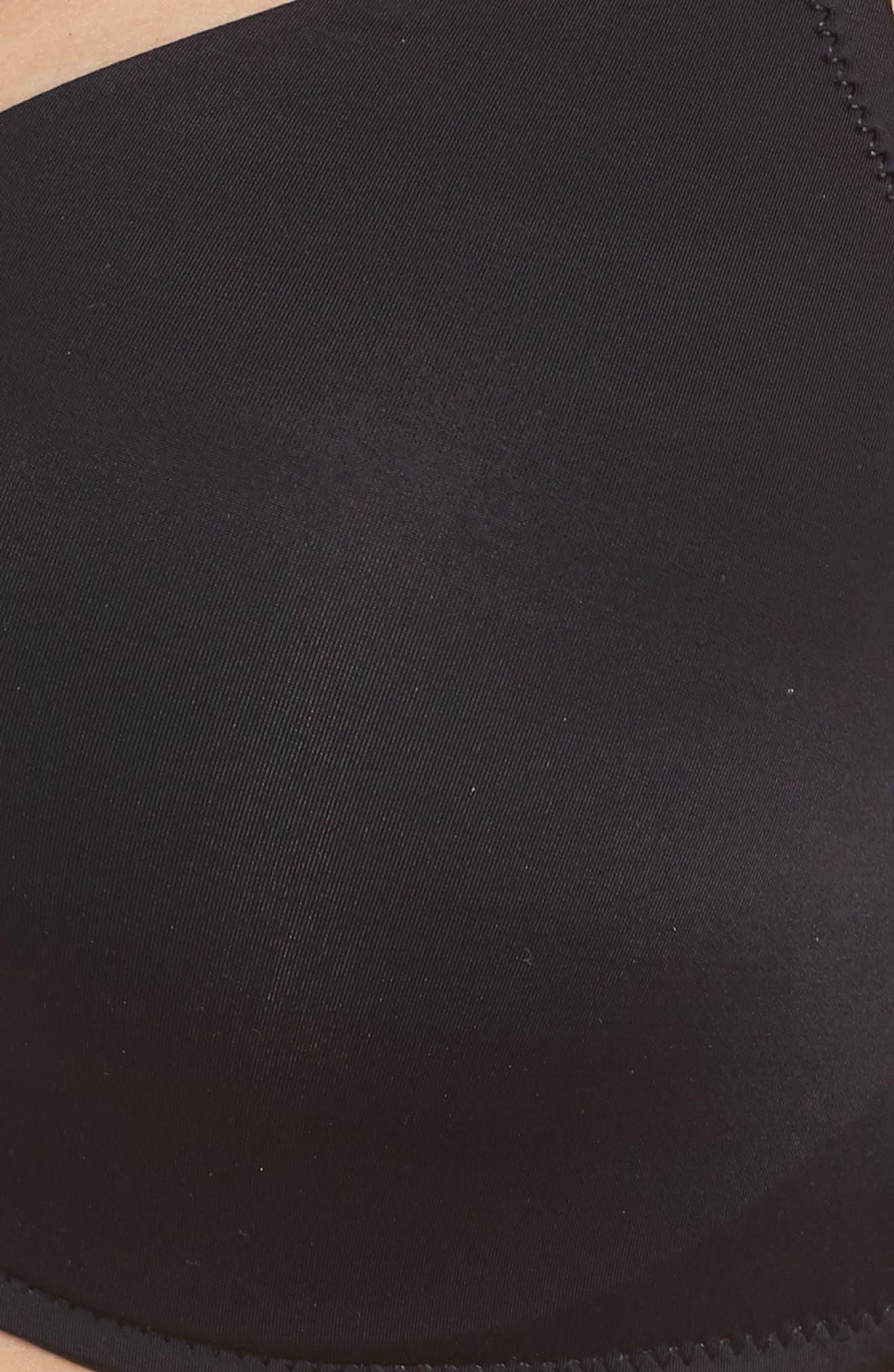 NATORI,                             Underneath Underwire Push-Up Bra,                             Alternate thumbnail 6, color,                             BLACK