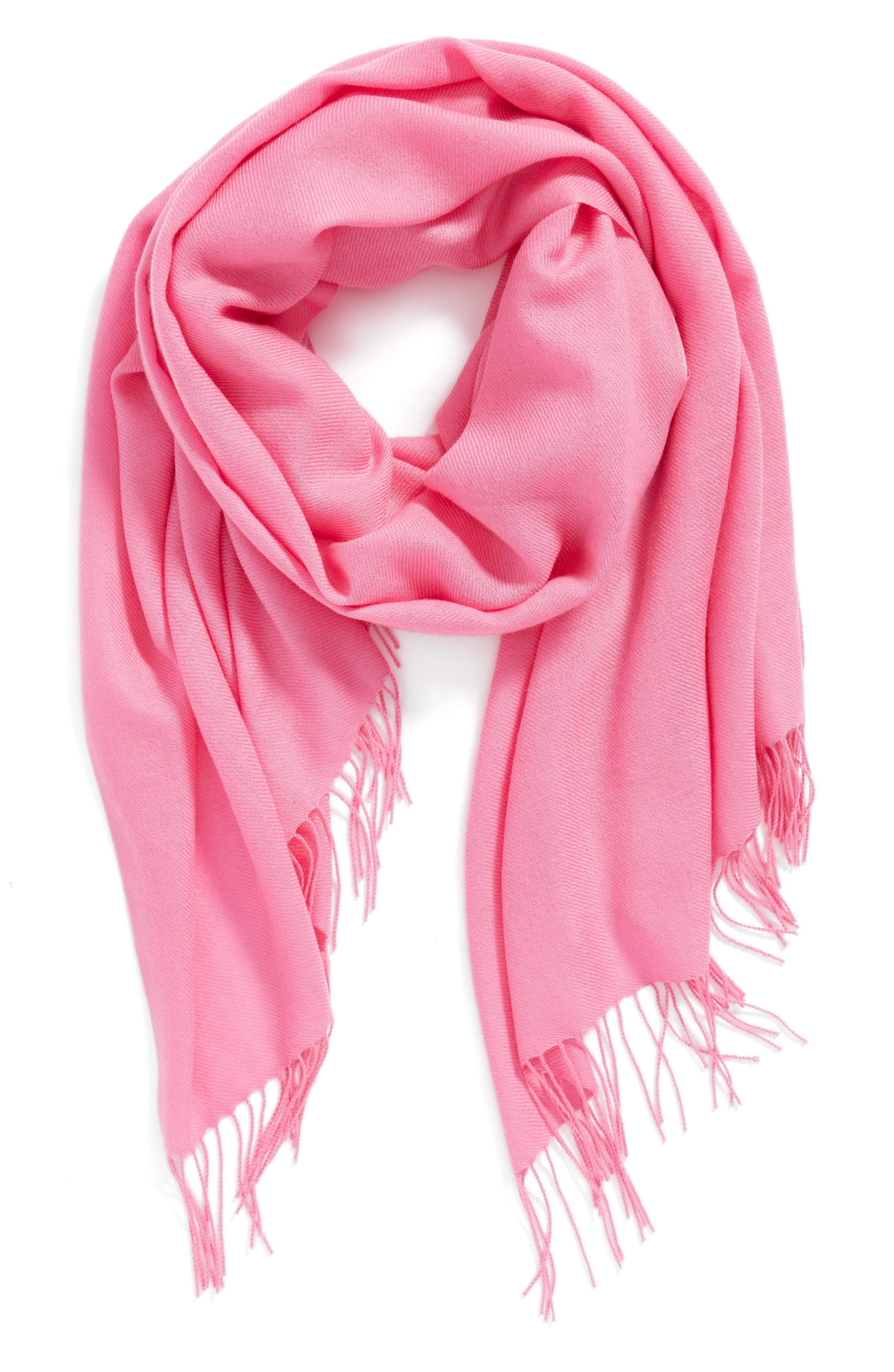 Tissue Weight Wool & Cashmere Scarf,                             Alternate thumbnail 137, color,