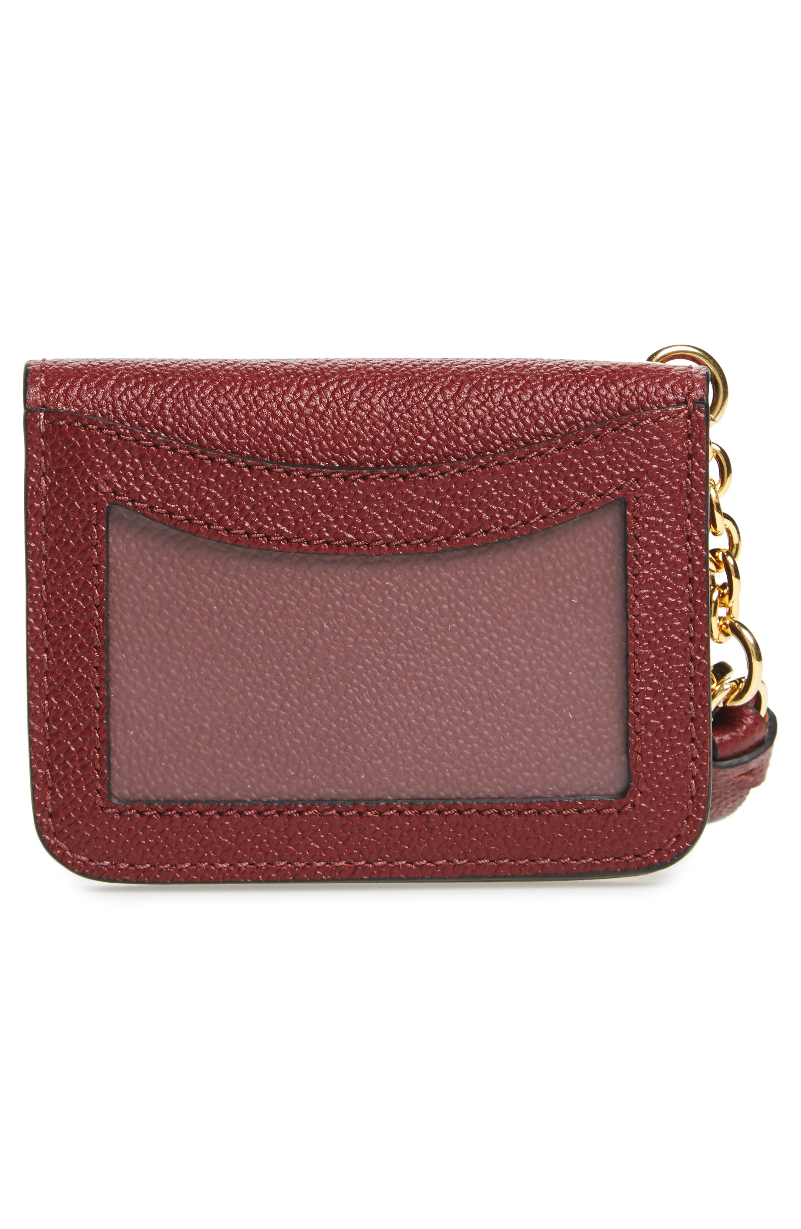 Camberwellid Leather Card Case Bag Charm,                             Alternate thumbnail 3, color,                             930