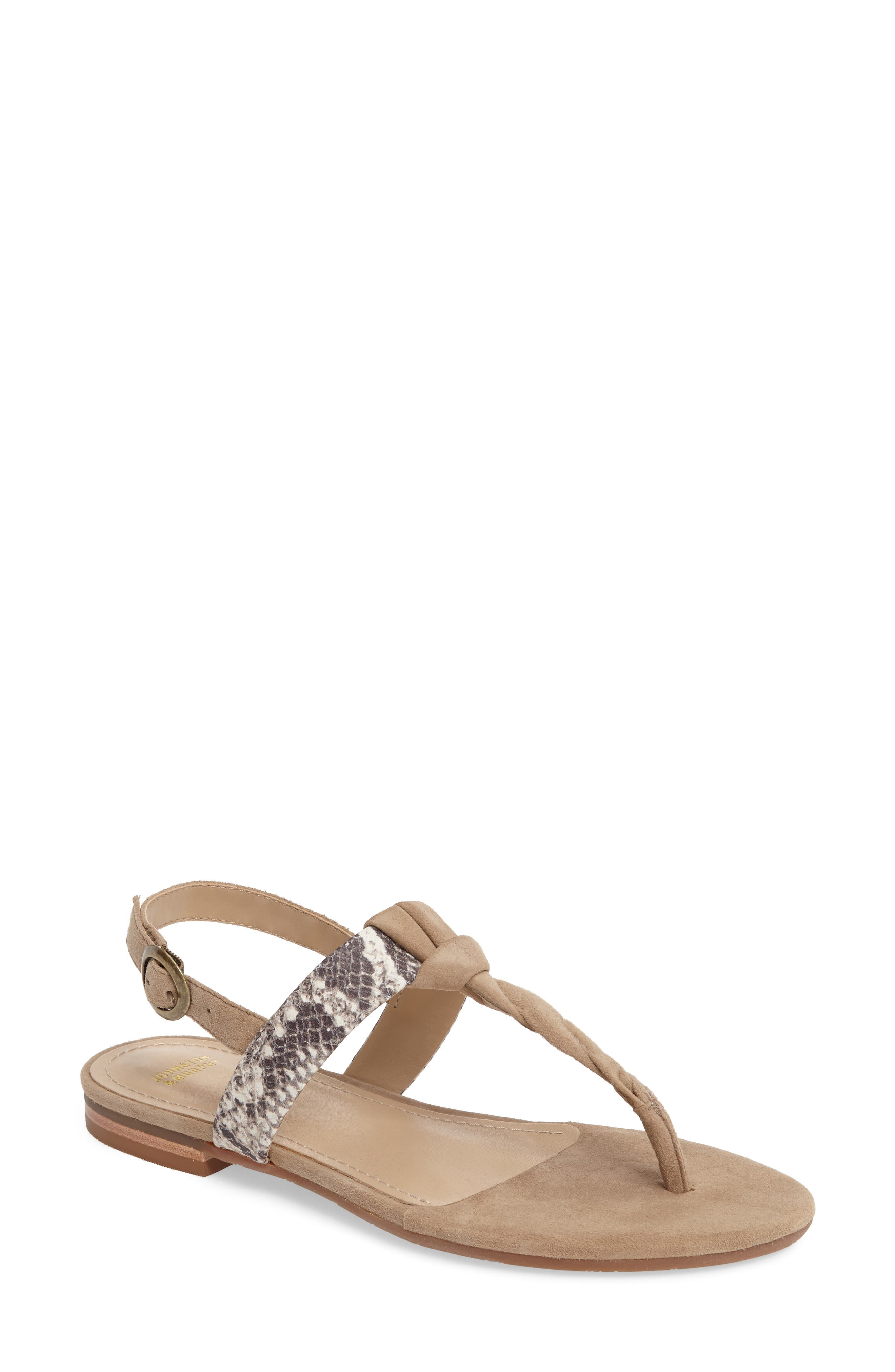 Holly Twisted T-Strap Sandal,                             Main thumbnail 3, color,