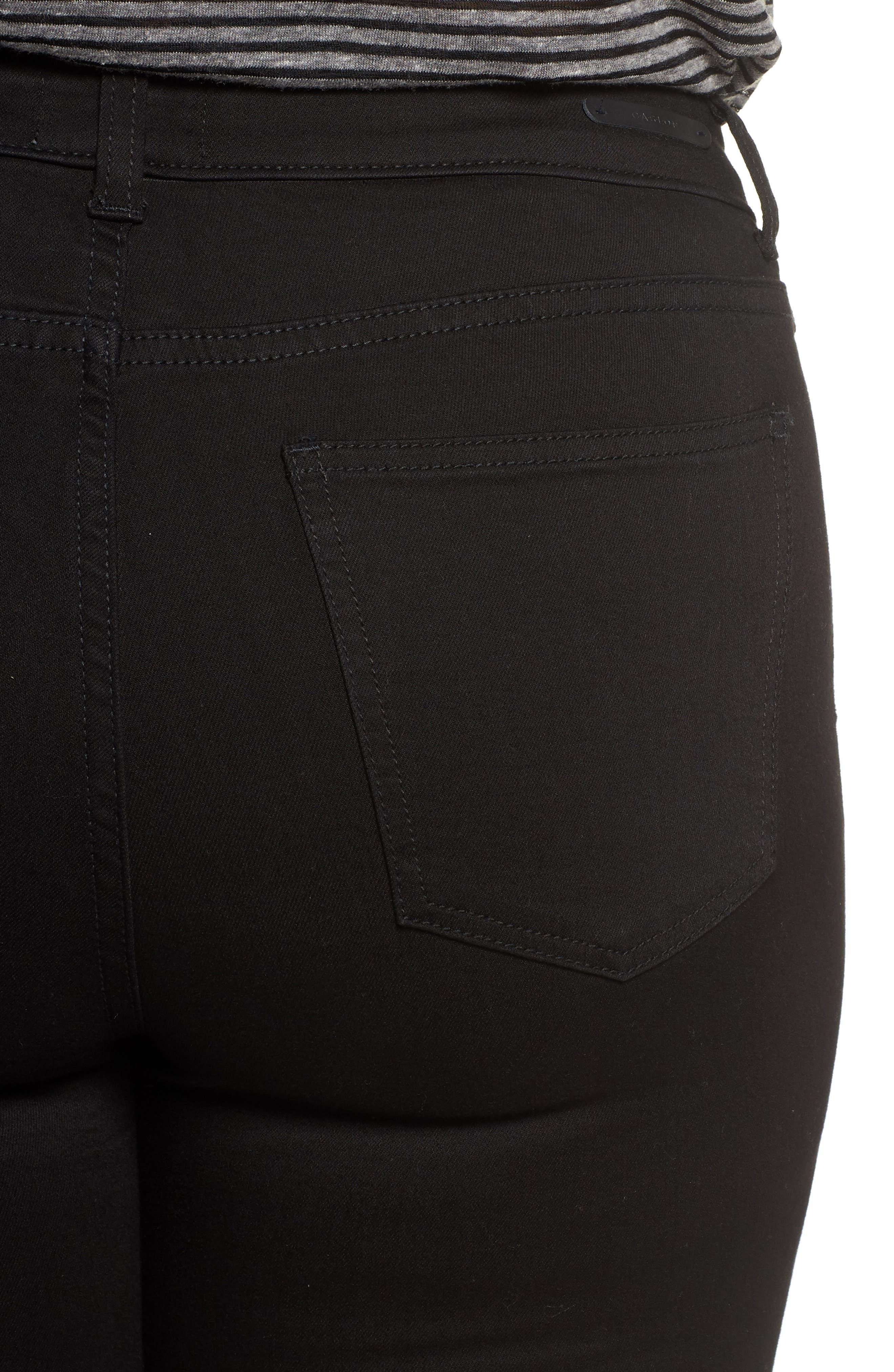 Stretch Skinny Jeans,                             Alternate thumbnail 4, color,                             BLACK WASH