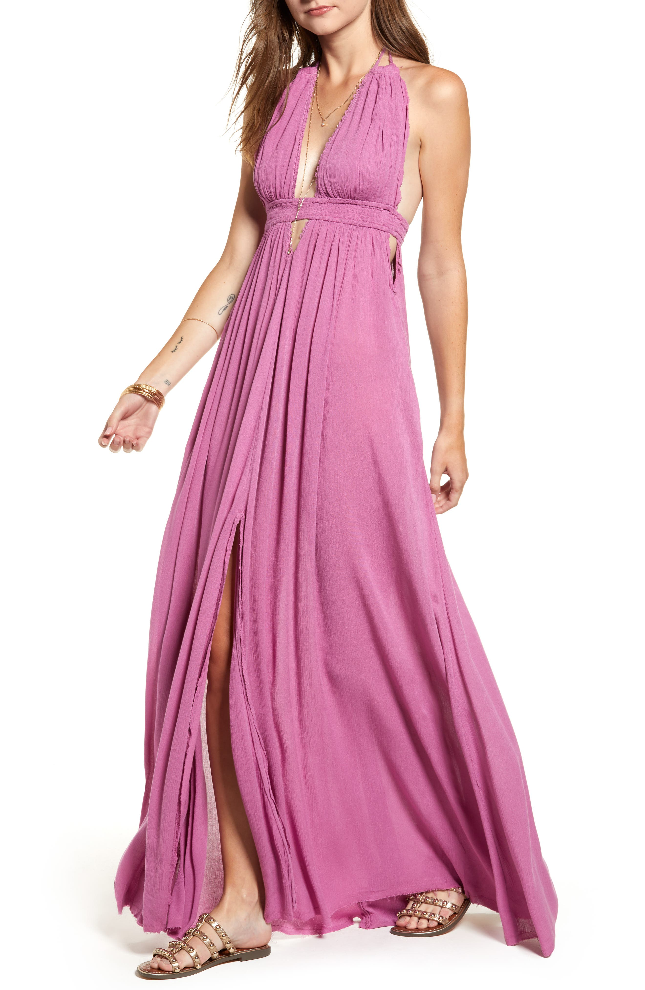 Endless Summer by Free People Look into the Sun Maxi Dress,                             Alternate thumbnail 6, color,                             VIOLET