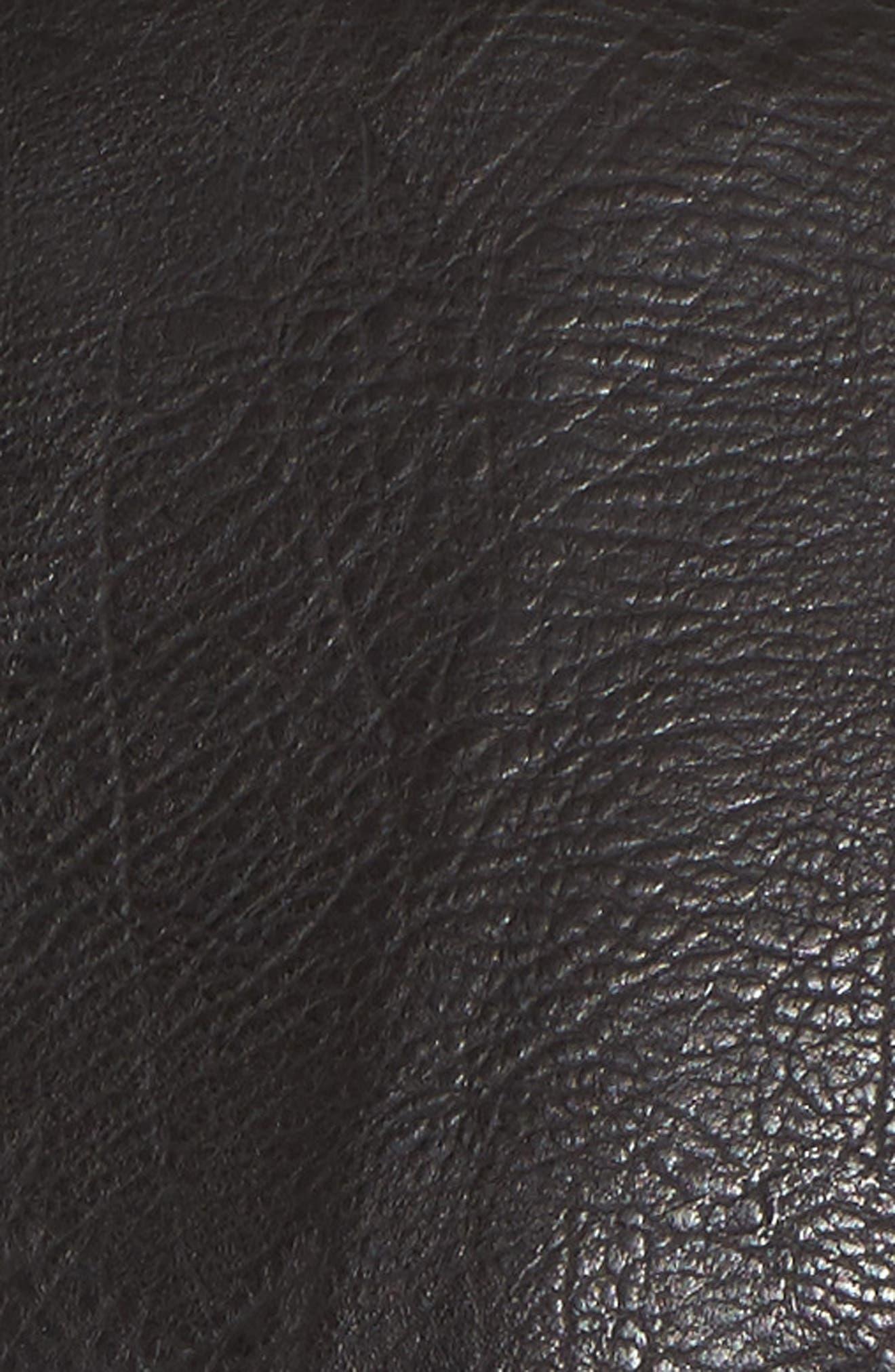 Studded Faux Leather Moto Jacket,                             Alternate thumbnail 6, color,                             001