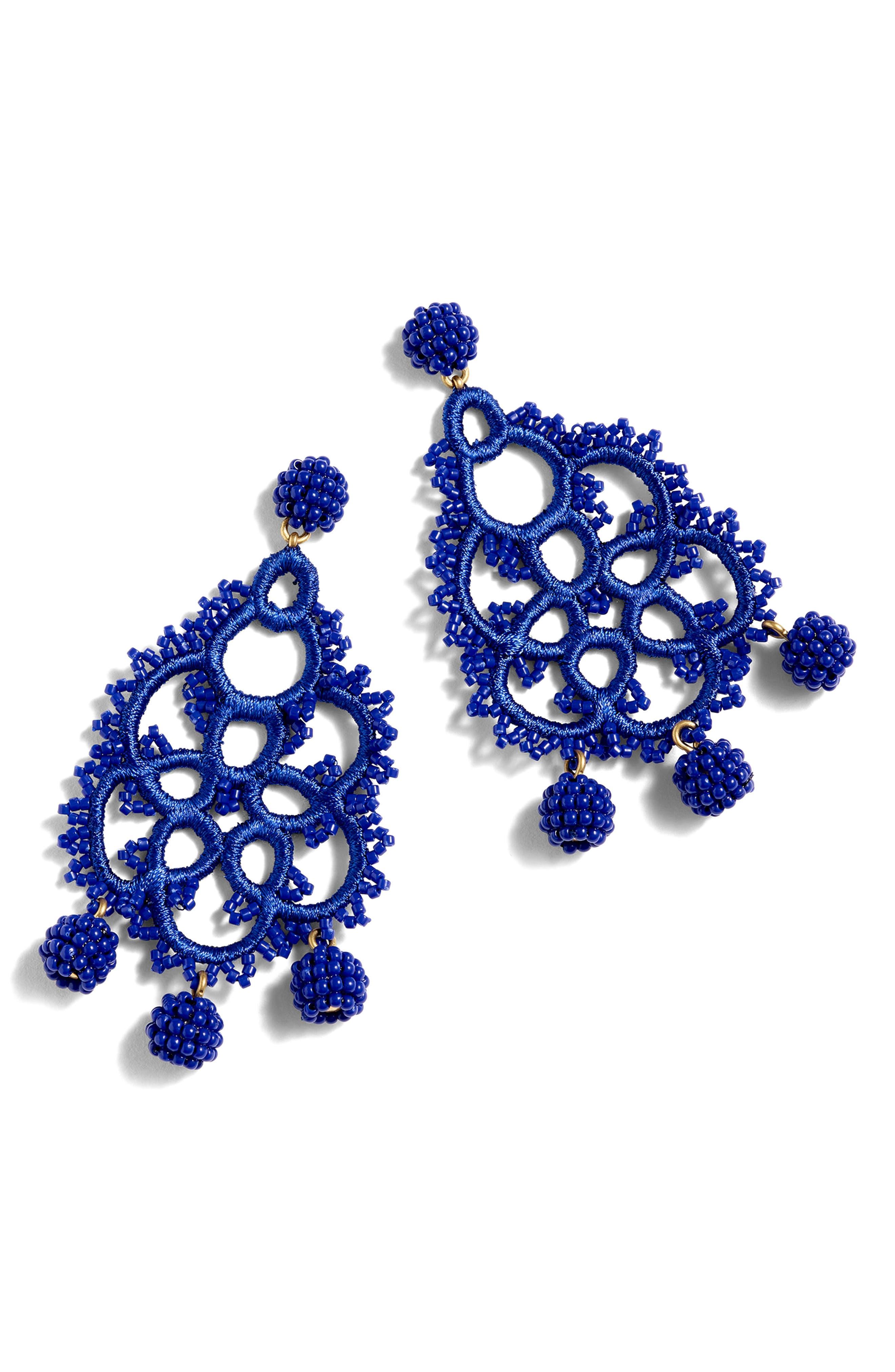 Bead & Embroidery Earrings,                             Alternate thumbnail 10, color,