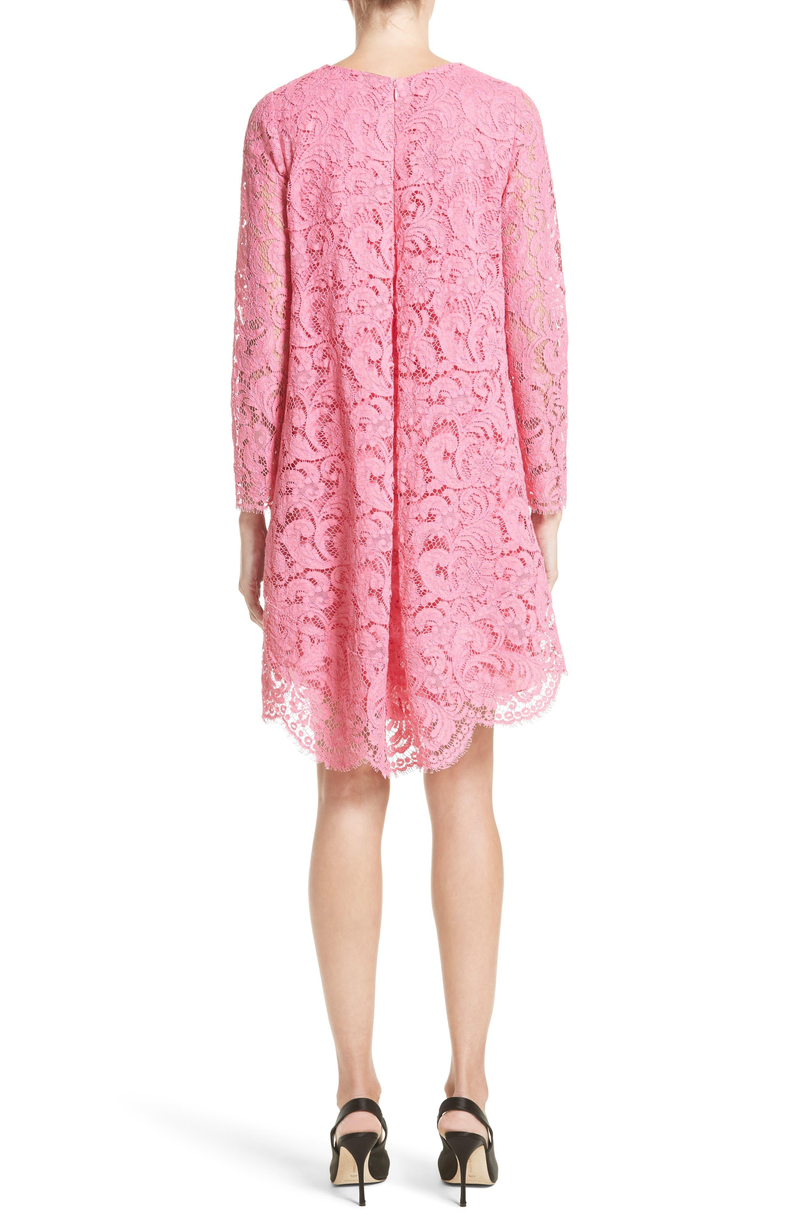 Corded Lace Trapeze Dress,                             Alternate thumbnail 2, color,                             673