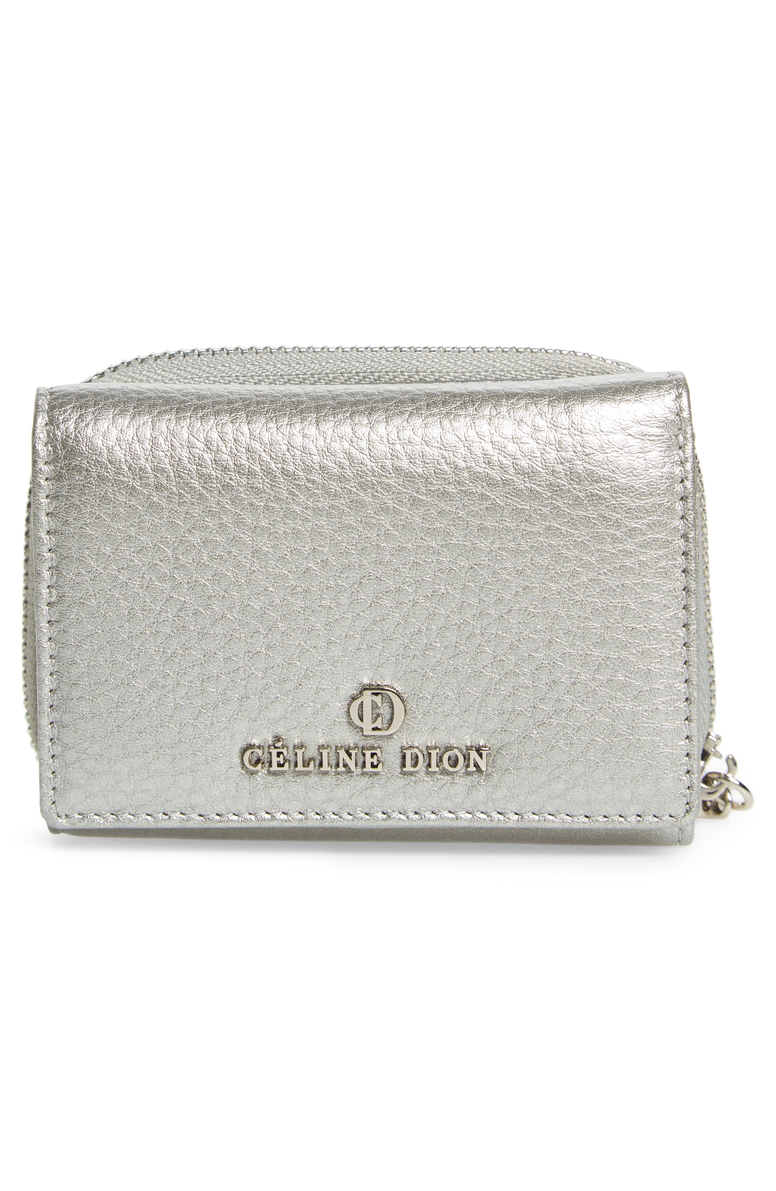 Céline Dion Small Adagio Leather Wallet,                             Alternate thumbnail 14, color,