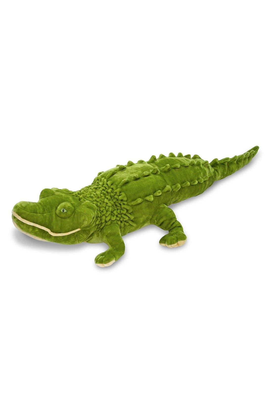 Oversized Alligator,                             Main thumbnail 1, color,                             GREEN