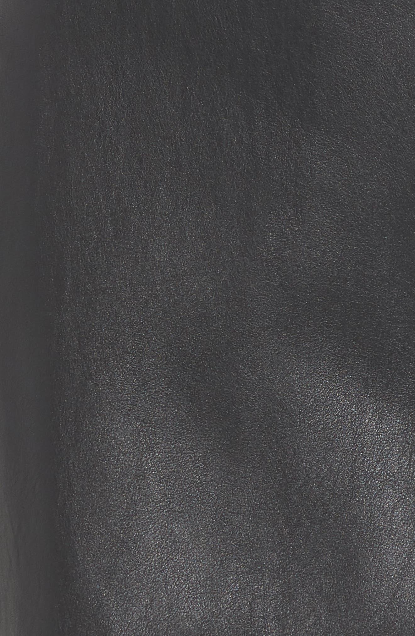 Exposed Zip Miniskirt,                             Alternate thumbnail 5, color,                             001