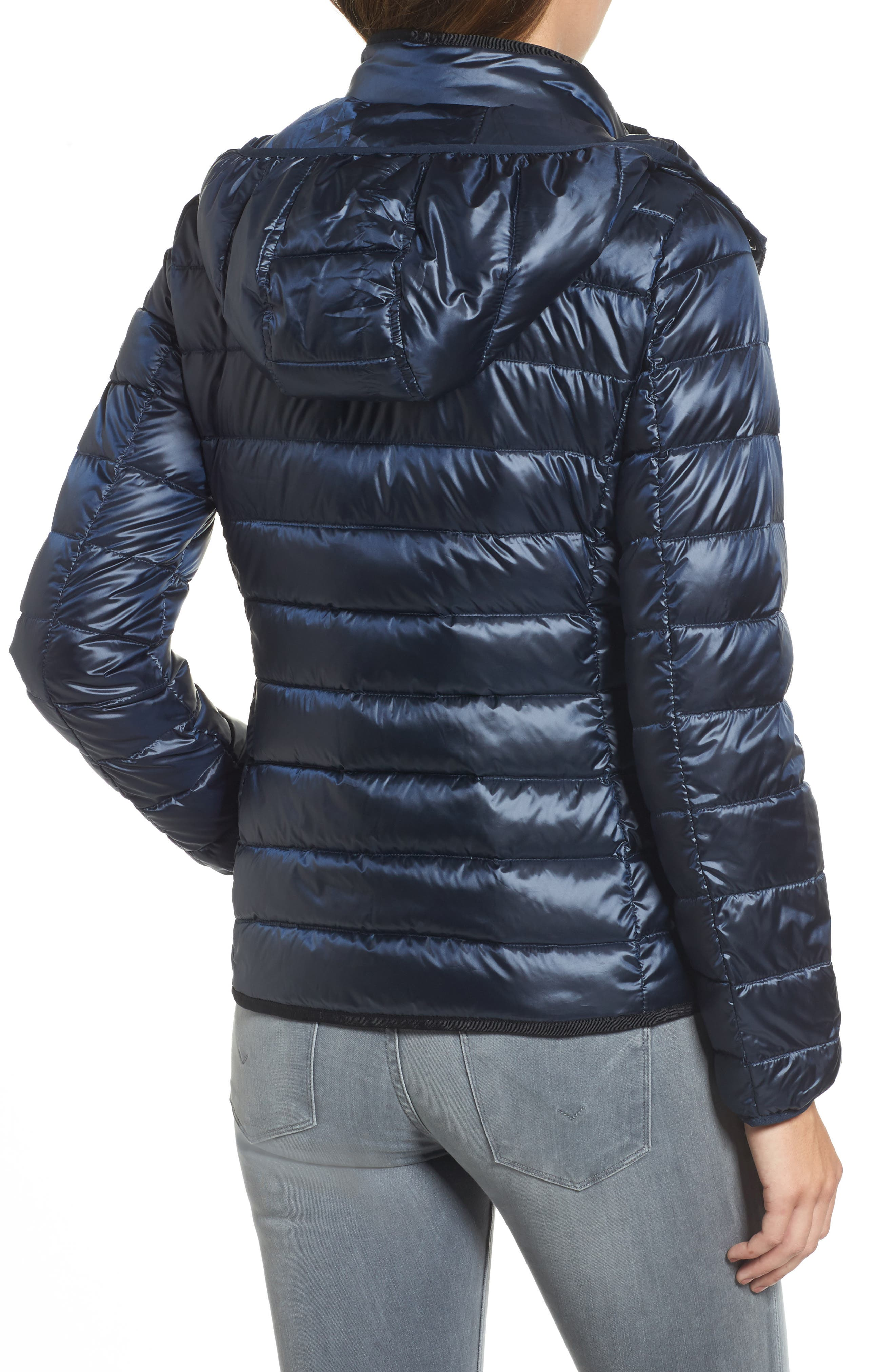 Packable Insulated Jacket with Removable Hood,                             Alternate thumbnail 7, color,