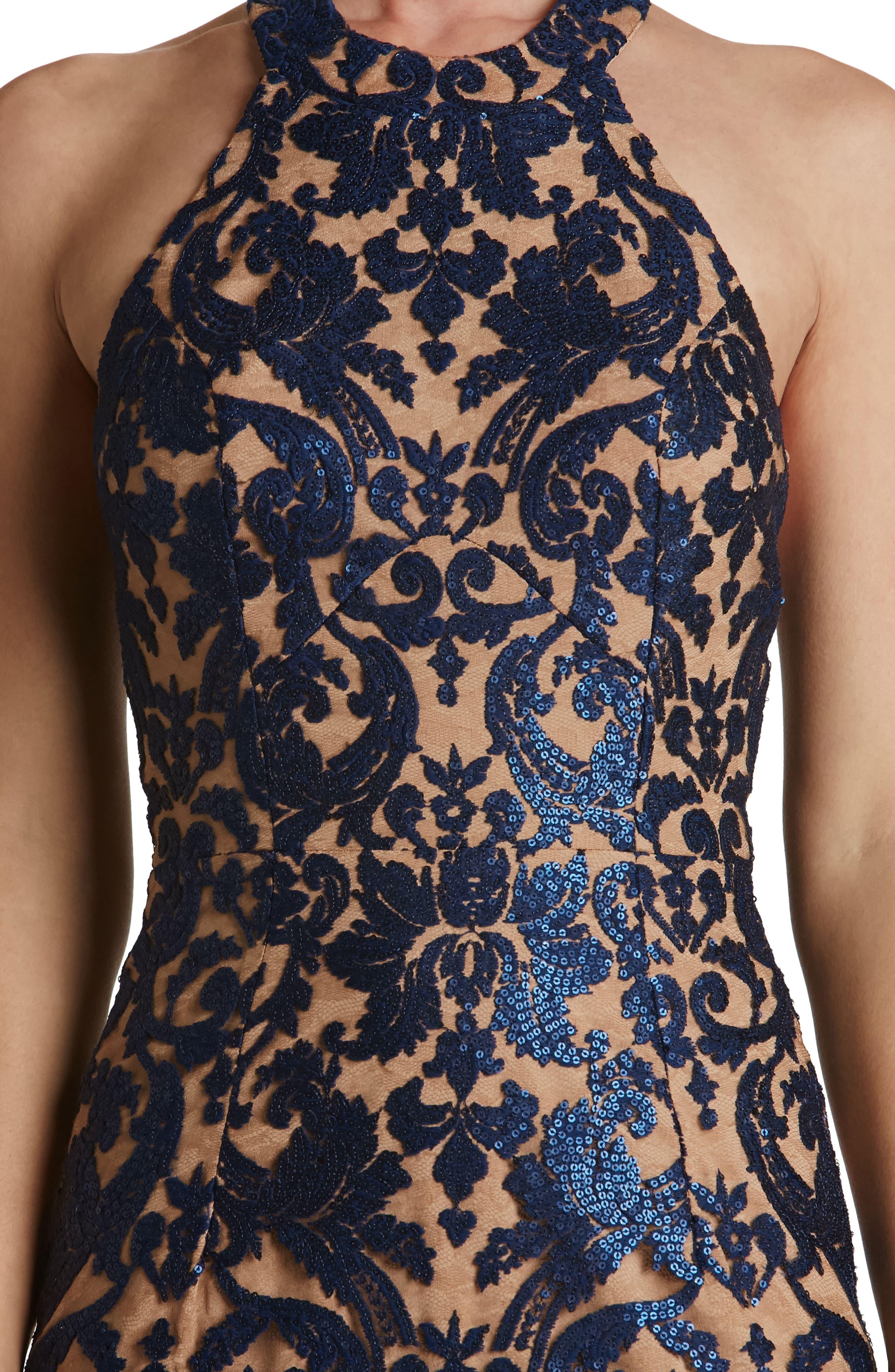 Cassie Sequin Midi Dress,                             Alternate thumbnail 23, color,