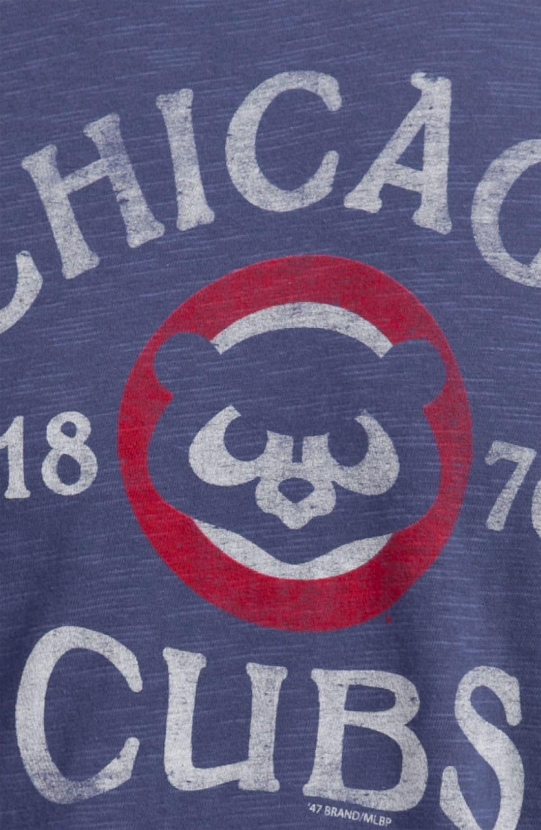 'Chicago Cubs' Regular Fit Crewneck T-Shirt,                             Alternate thumbnail 34, color,