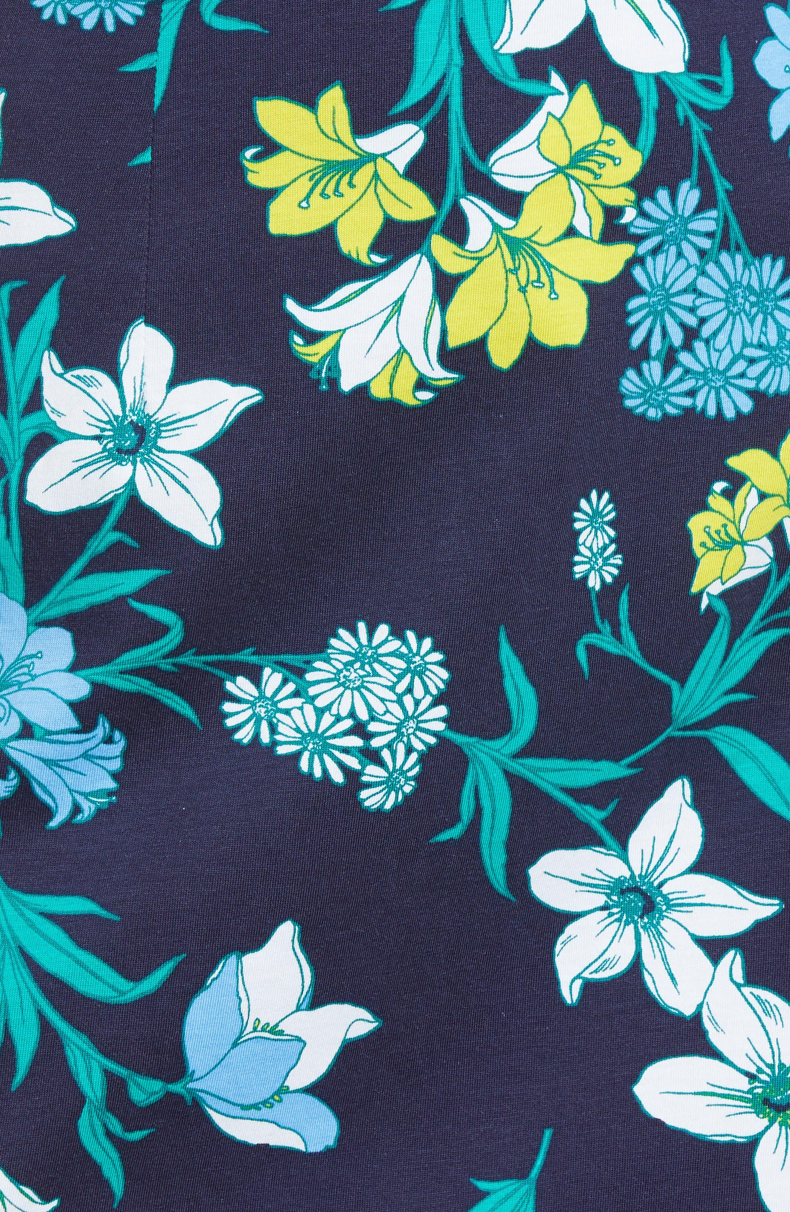 Floral Ruffle Cotton Dress,                             Alternate thumbnail 5, color,