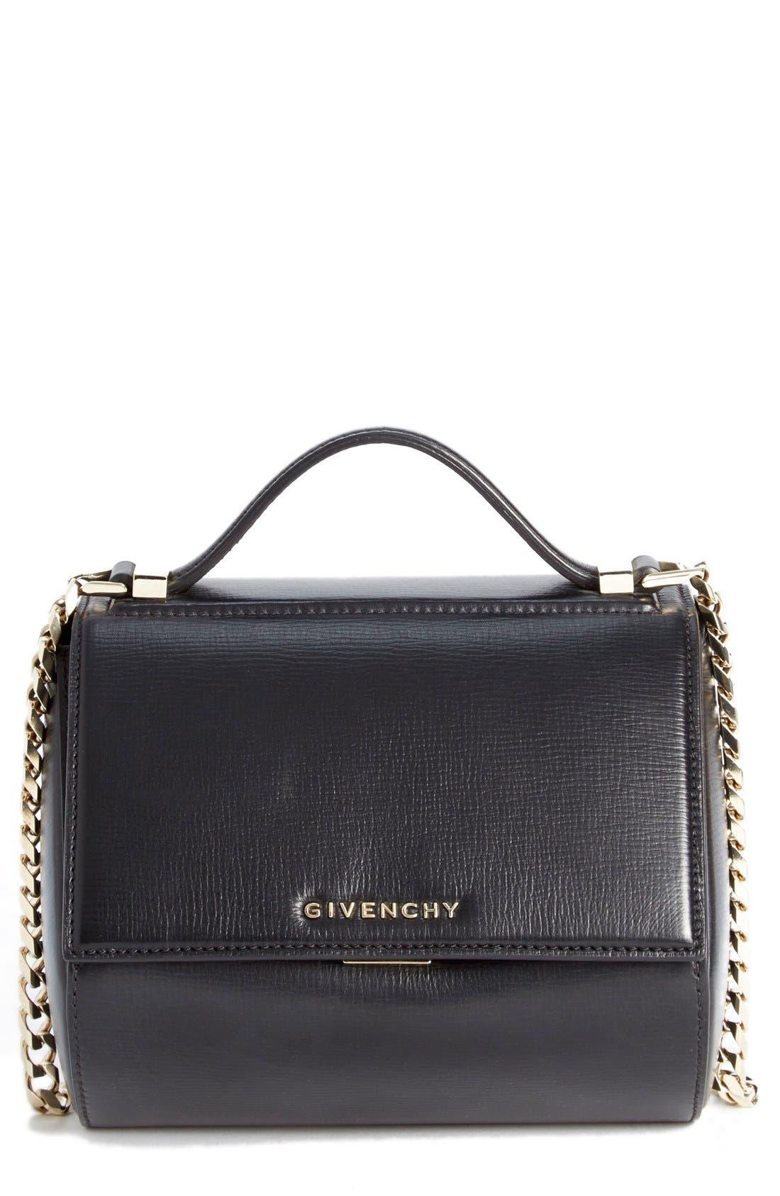 'Mini Pandora Box - Palma' Leather Shoulder Bag,                         Main,                         color, 001 BLACK