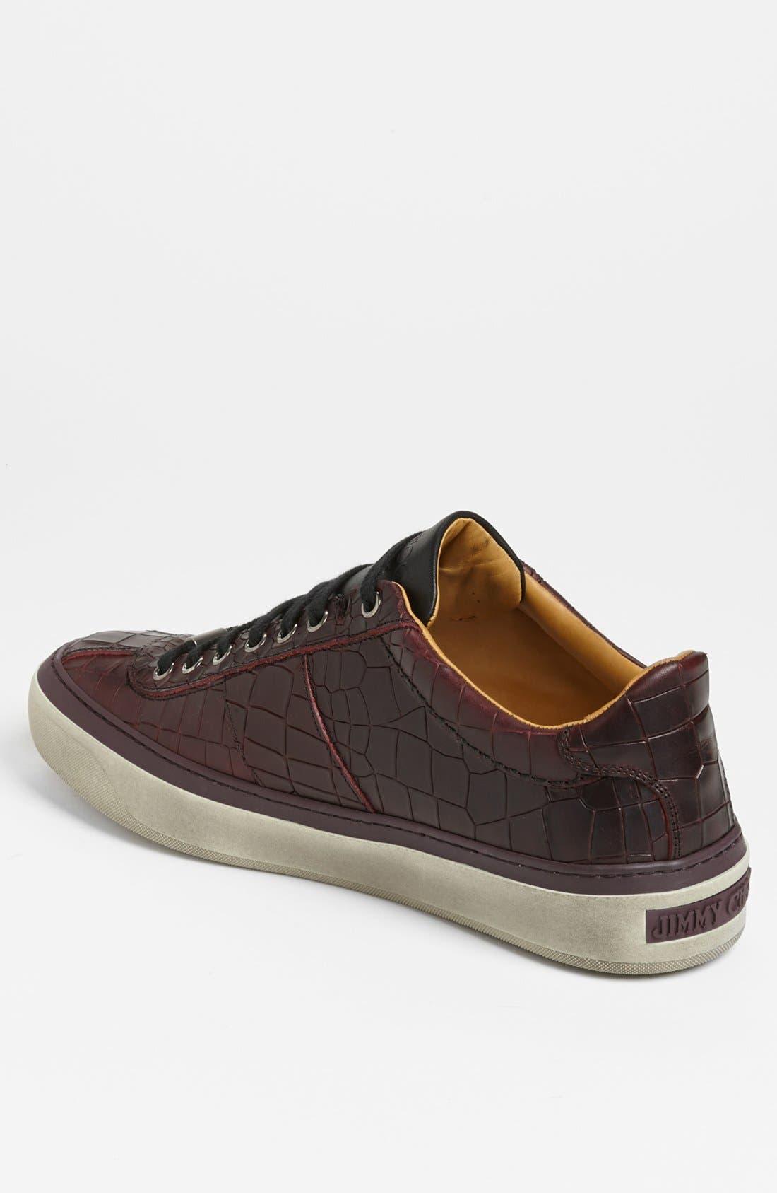 JIMMY CHOO,                             'Portman' Sneaker,                             Alternate thumbnail 4, color,                             001