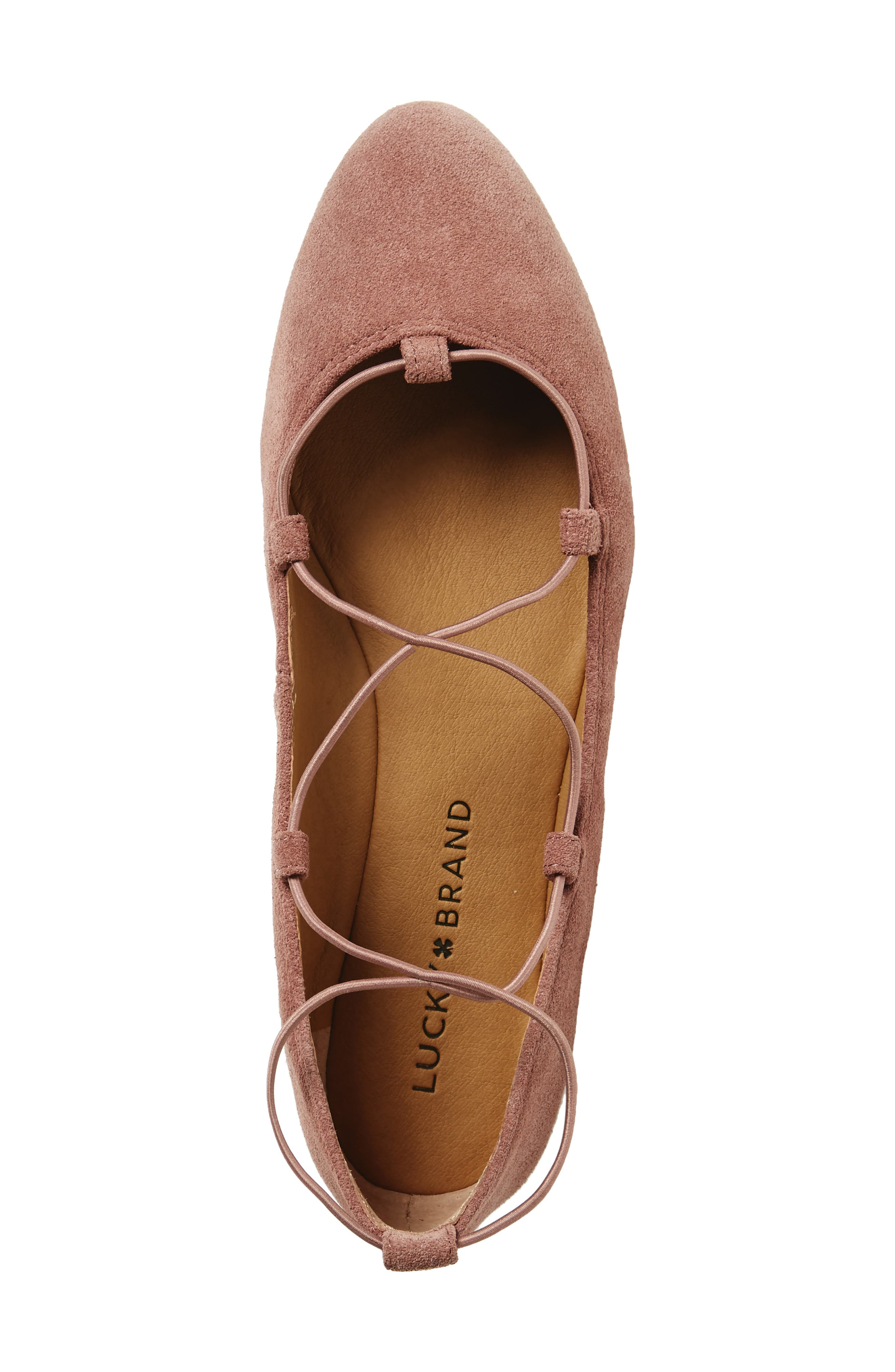 'Aviee' Lace-Up Flat,                             Alternate thumbnail 40, color,