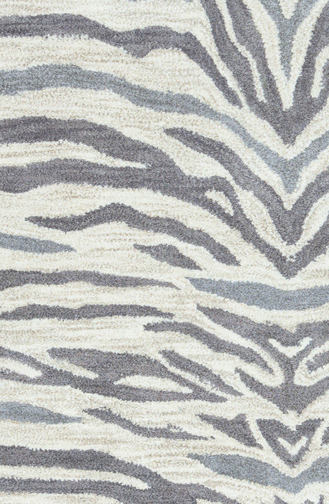 'Valintino Zebra' Hand Tufted Wool Area Rug,                             Alternate thumbnail 3, color,                             020