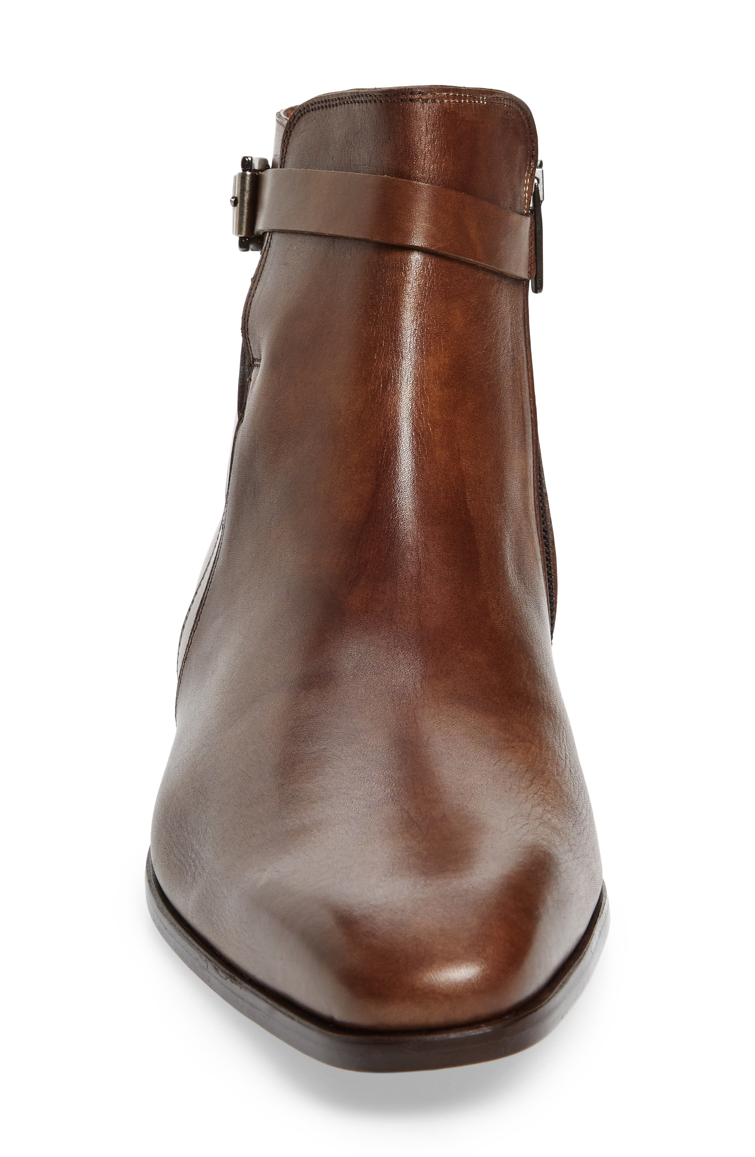 Viso Zip Boot,                             Alternate thumbnail 4, color,                             TAUPE LEATHER