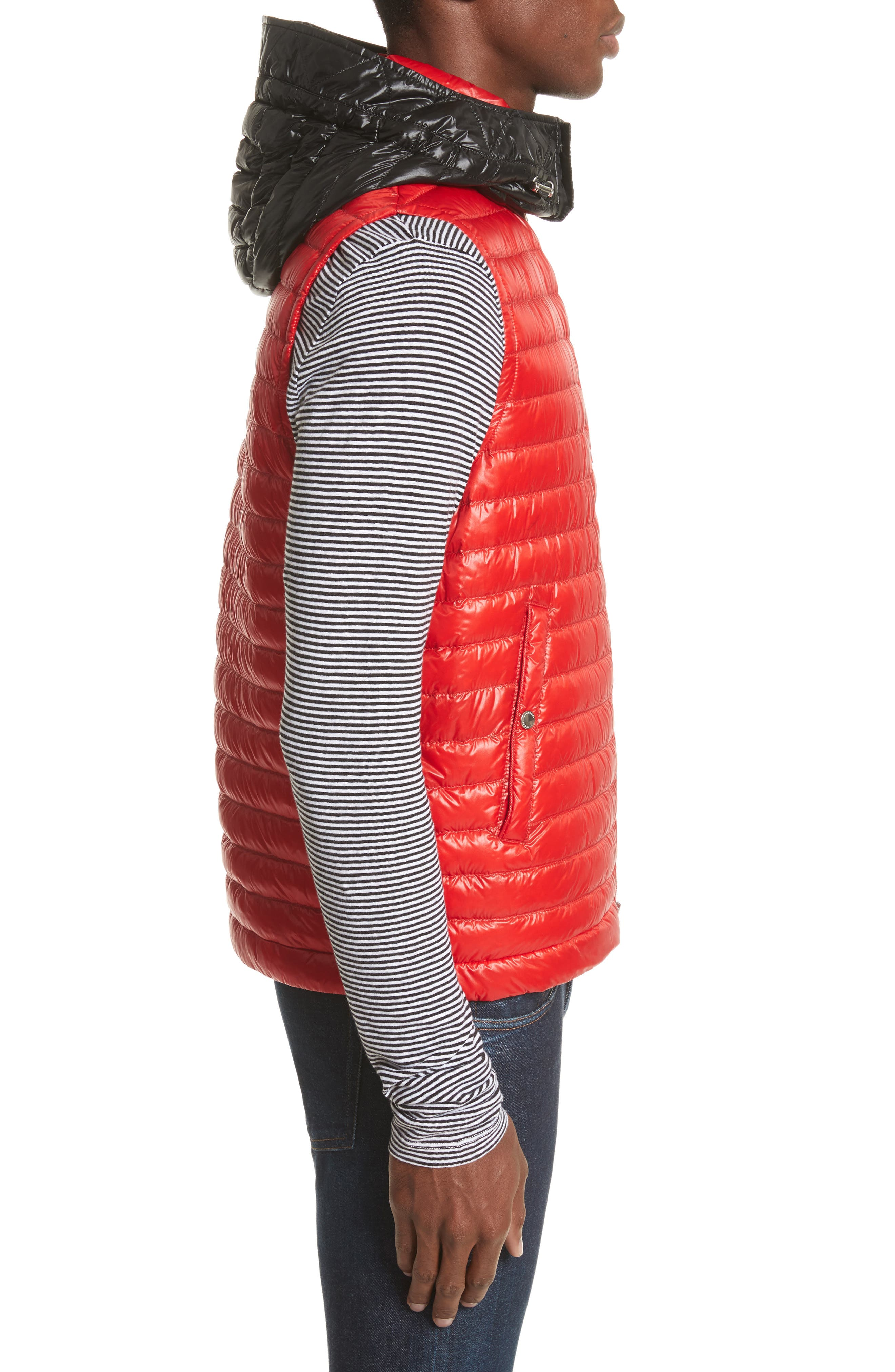Aldridge Quilted Vest with Removable Hood,                             Alternate thumbnail 6, color,