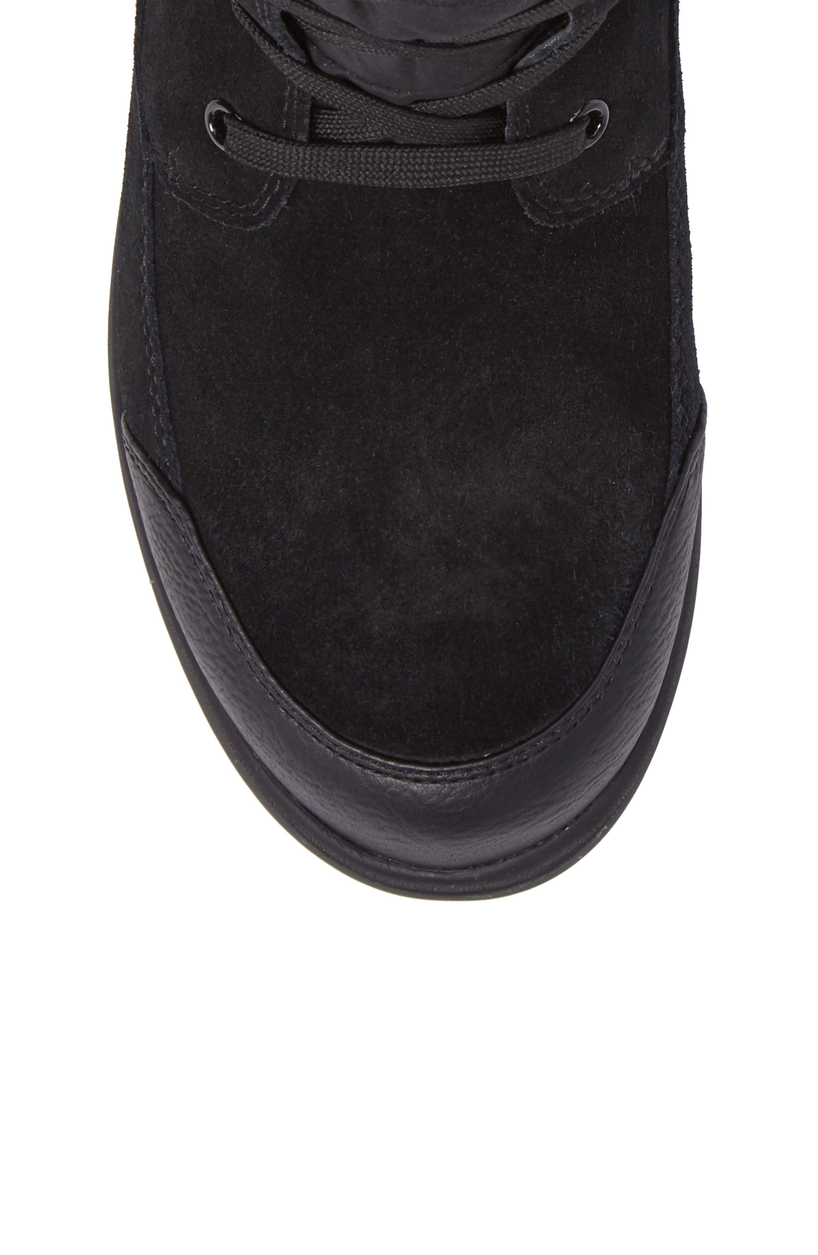 QuincyS Waterproof Boot,                             Alternate thumbnail 5, color,                             BLACK FABRIC