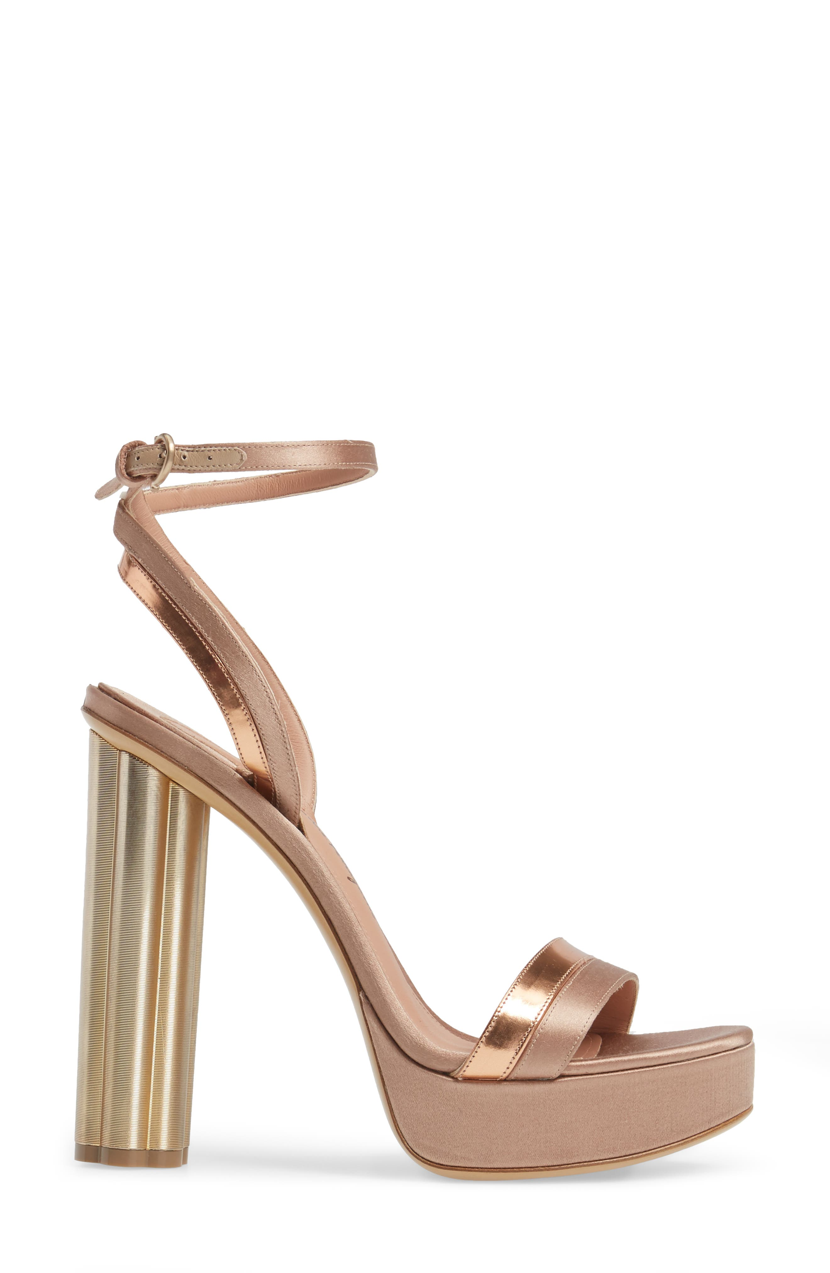 Ankle Strap Platform Sandal,                             Alternate thumbnail 3, color,                             710