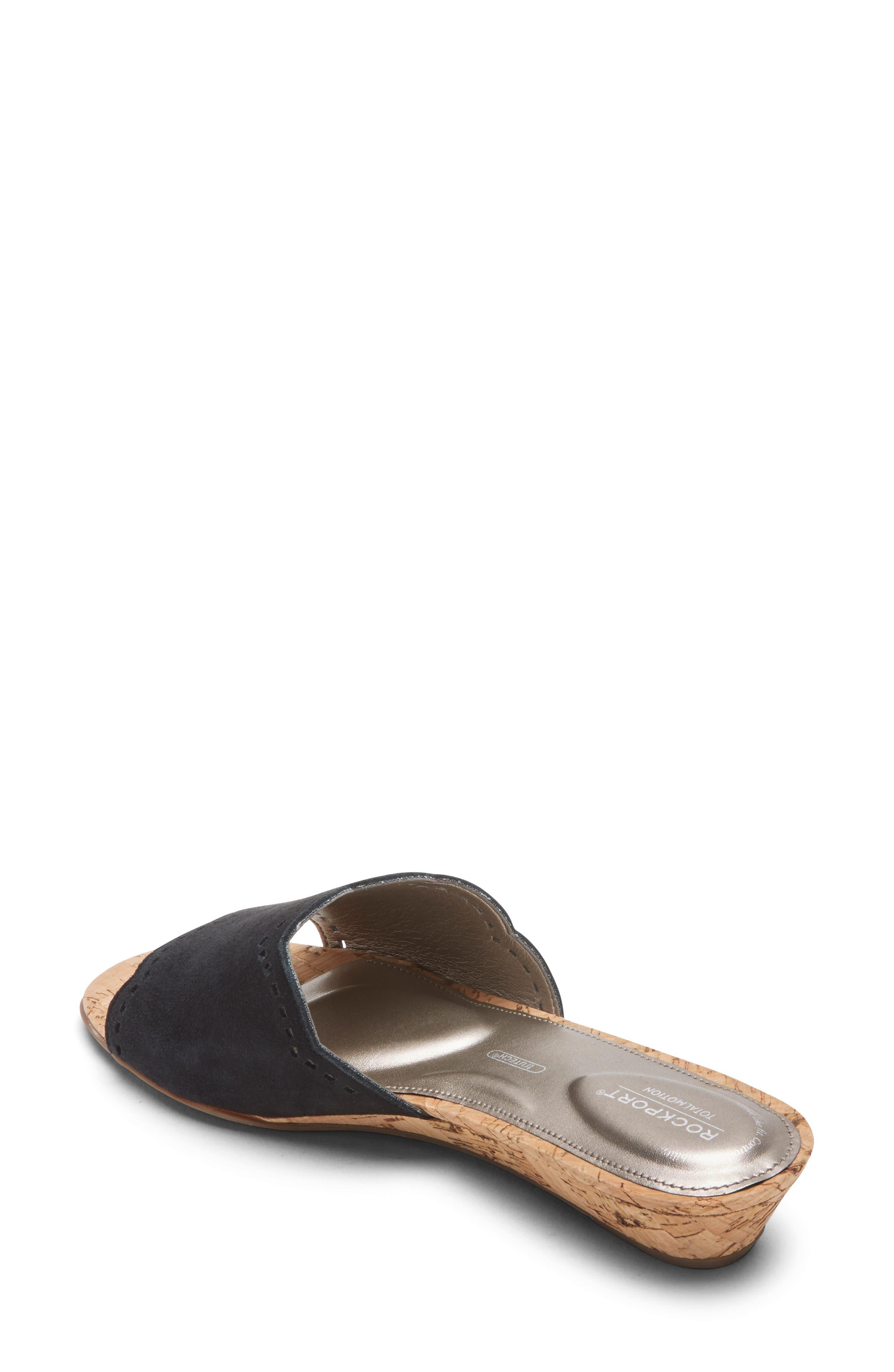 Zandra Total Motion<sup>®</sup> Slide Sandal,                             Alternate thumbnail 2, color,                             BLACK SUEDE