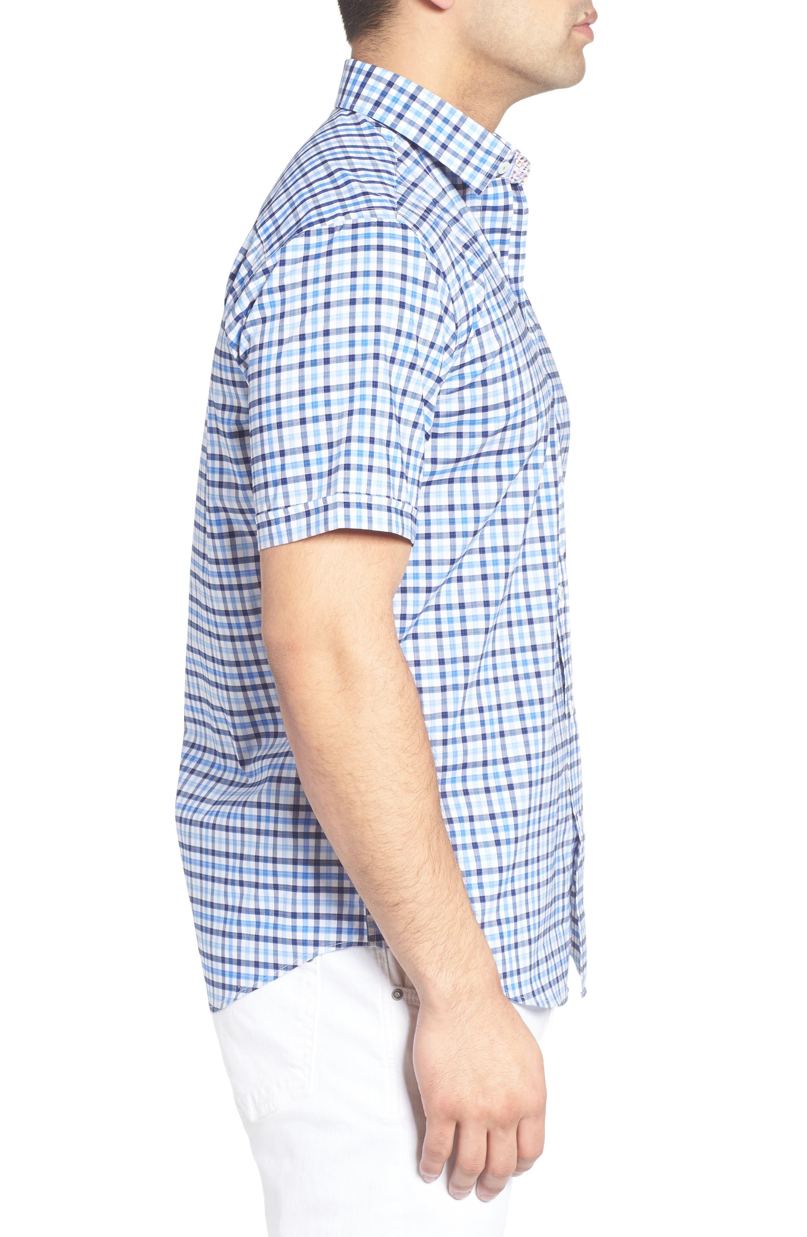Classic Fit Check Sport Shirt,                             Alternate thumbnail 3, color,