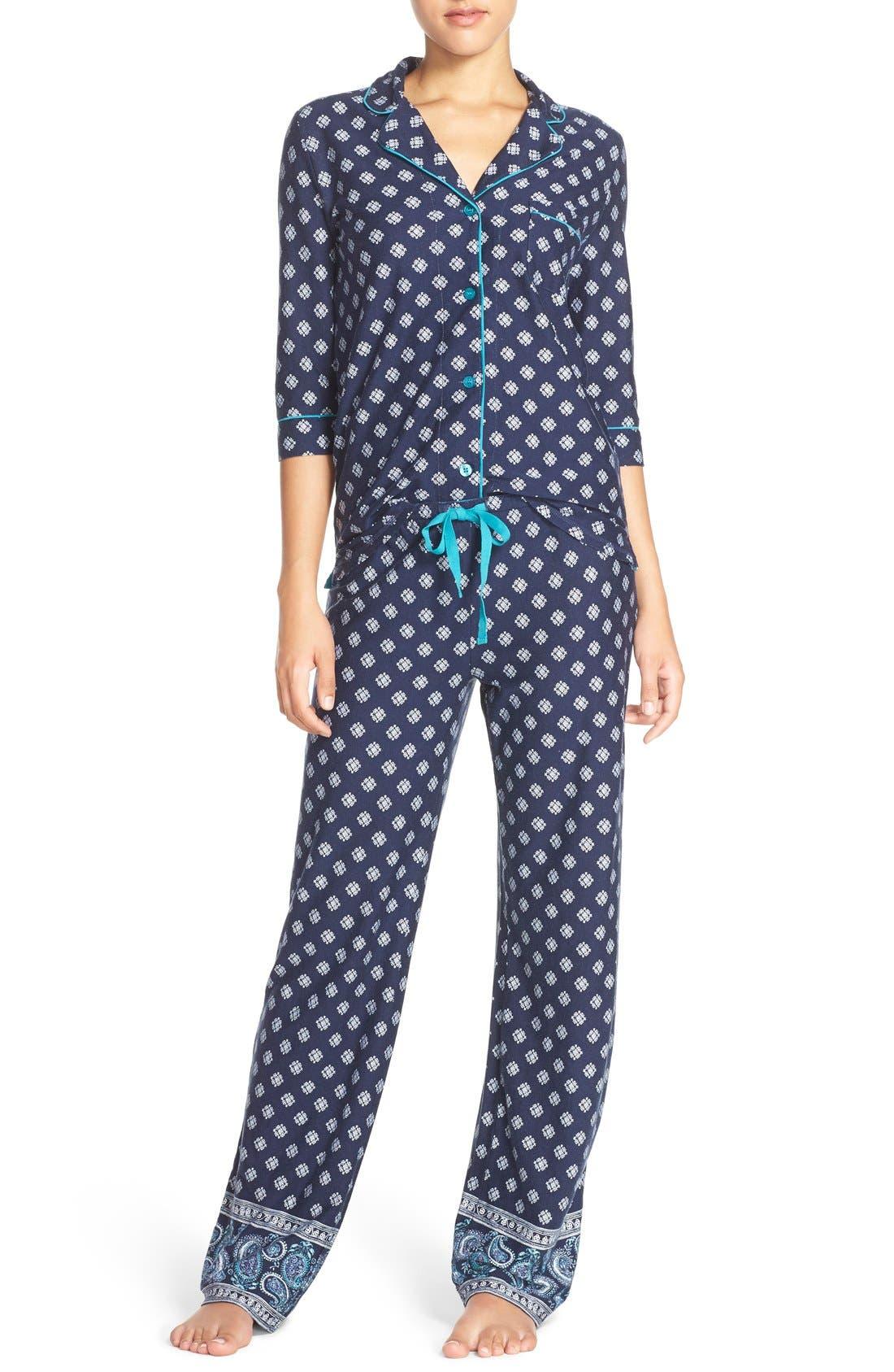 'Playful' Print Pajamas, Main, color, 410