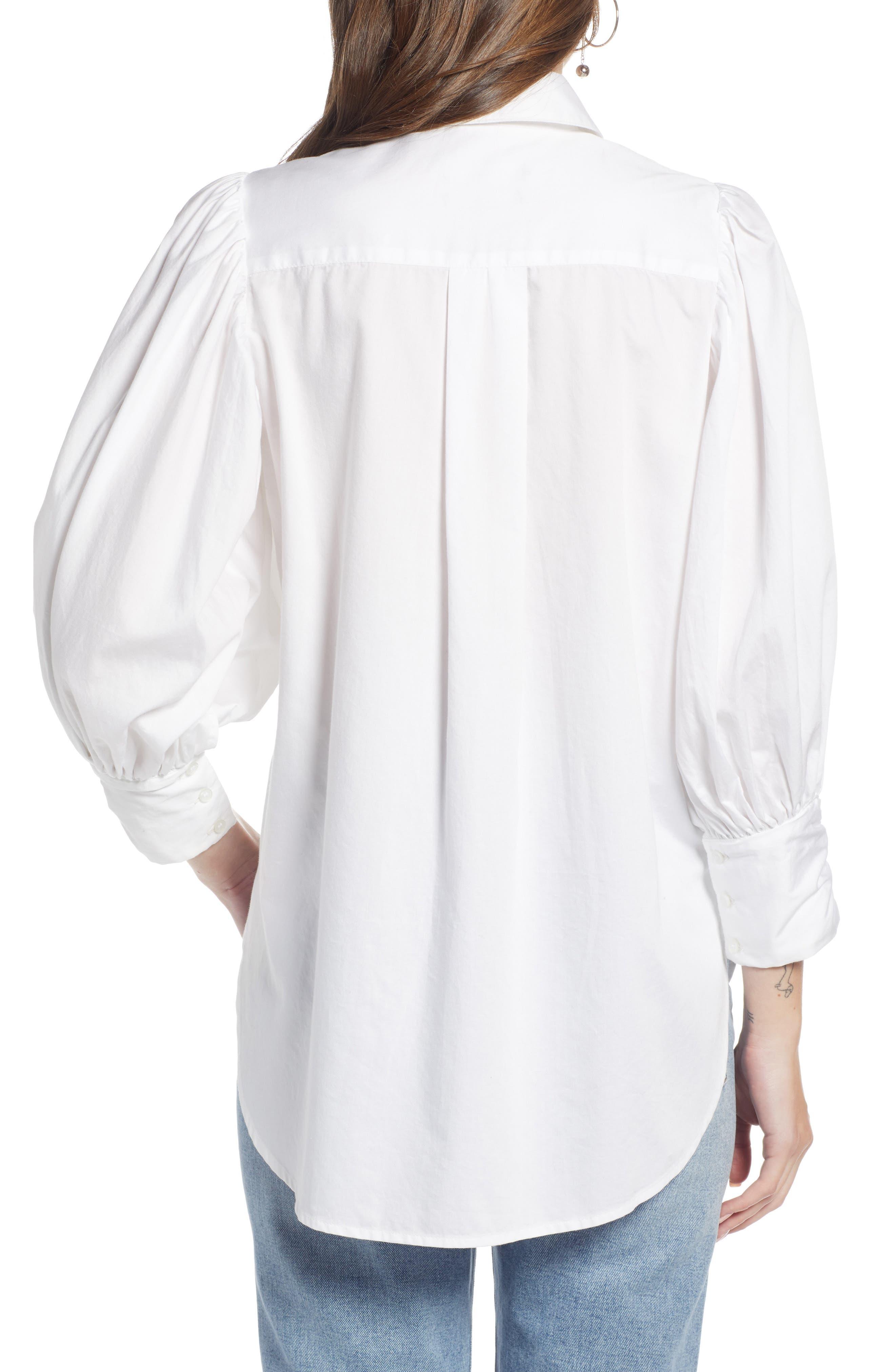 SOMETHING NAVY,                             Full Sleeve Button Through Shirt,                             Alternate thumbnail 2, color,                             100