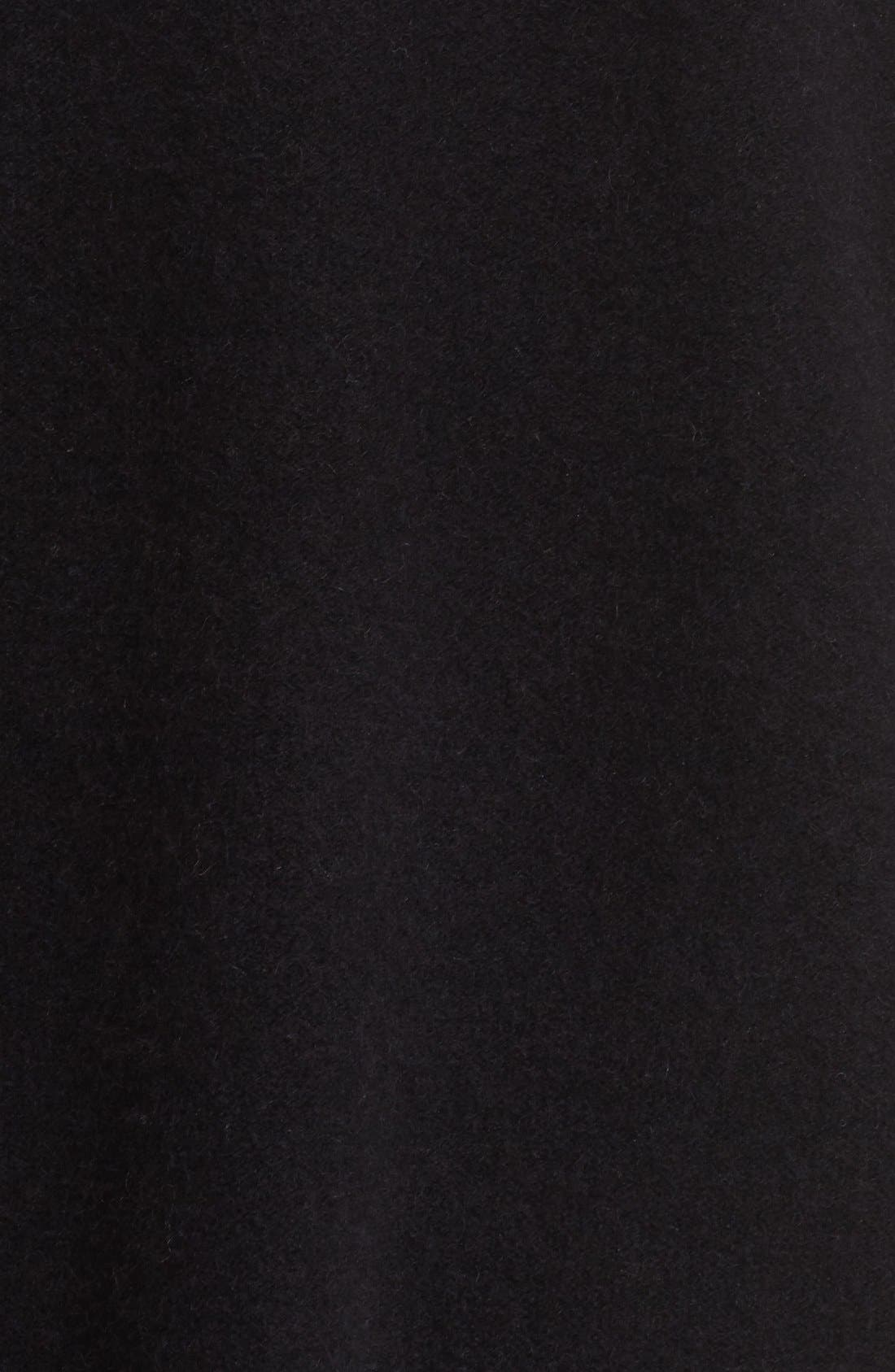 Open Front Cashmere Cardigan,                             Alternate thumbnail 5, color,                             001
