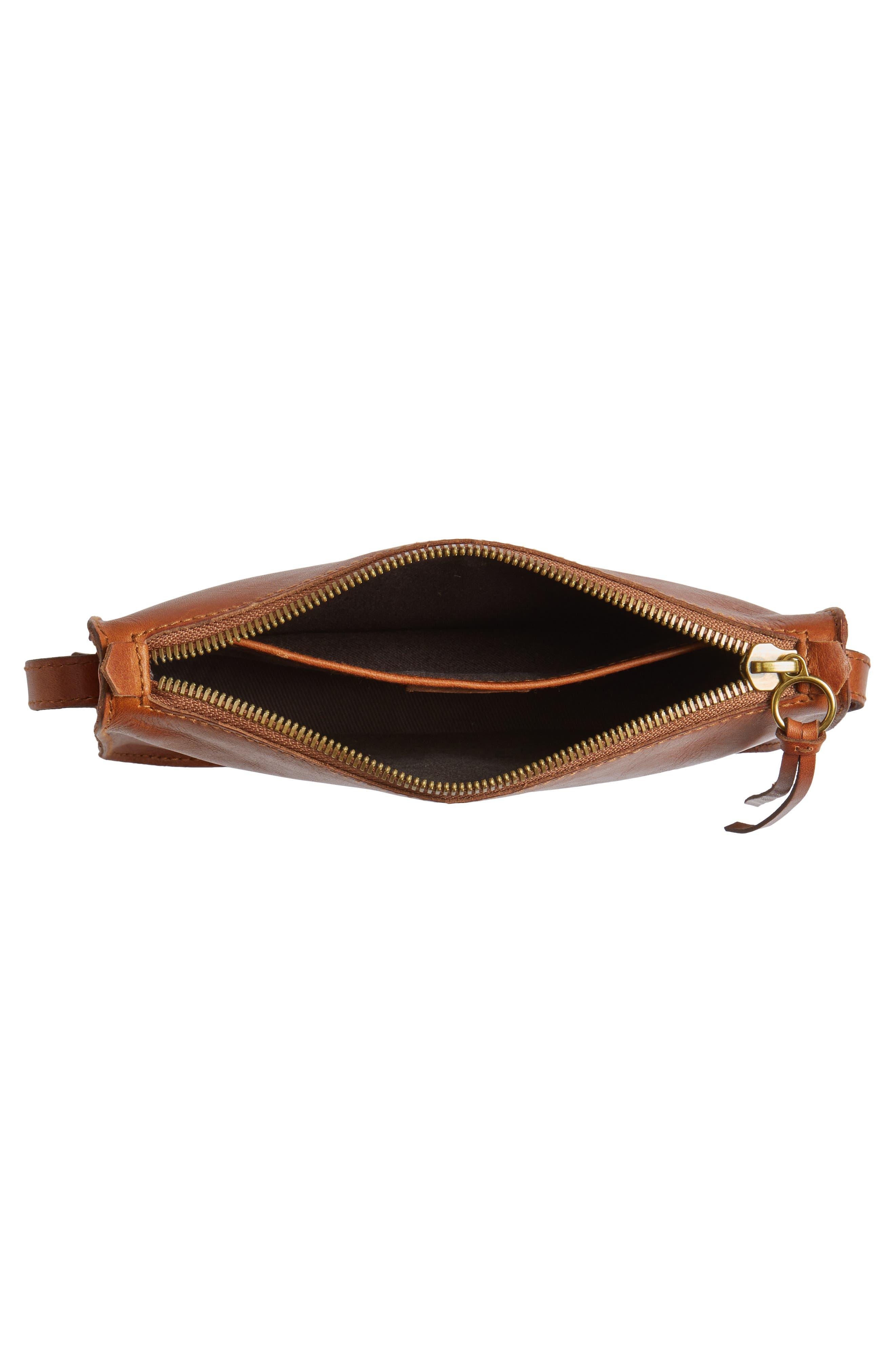 The Simple Leather Crossbody Bag,                             Alternate thumbnail 4, color,                             ENGLISH SADDLE