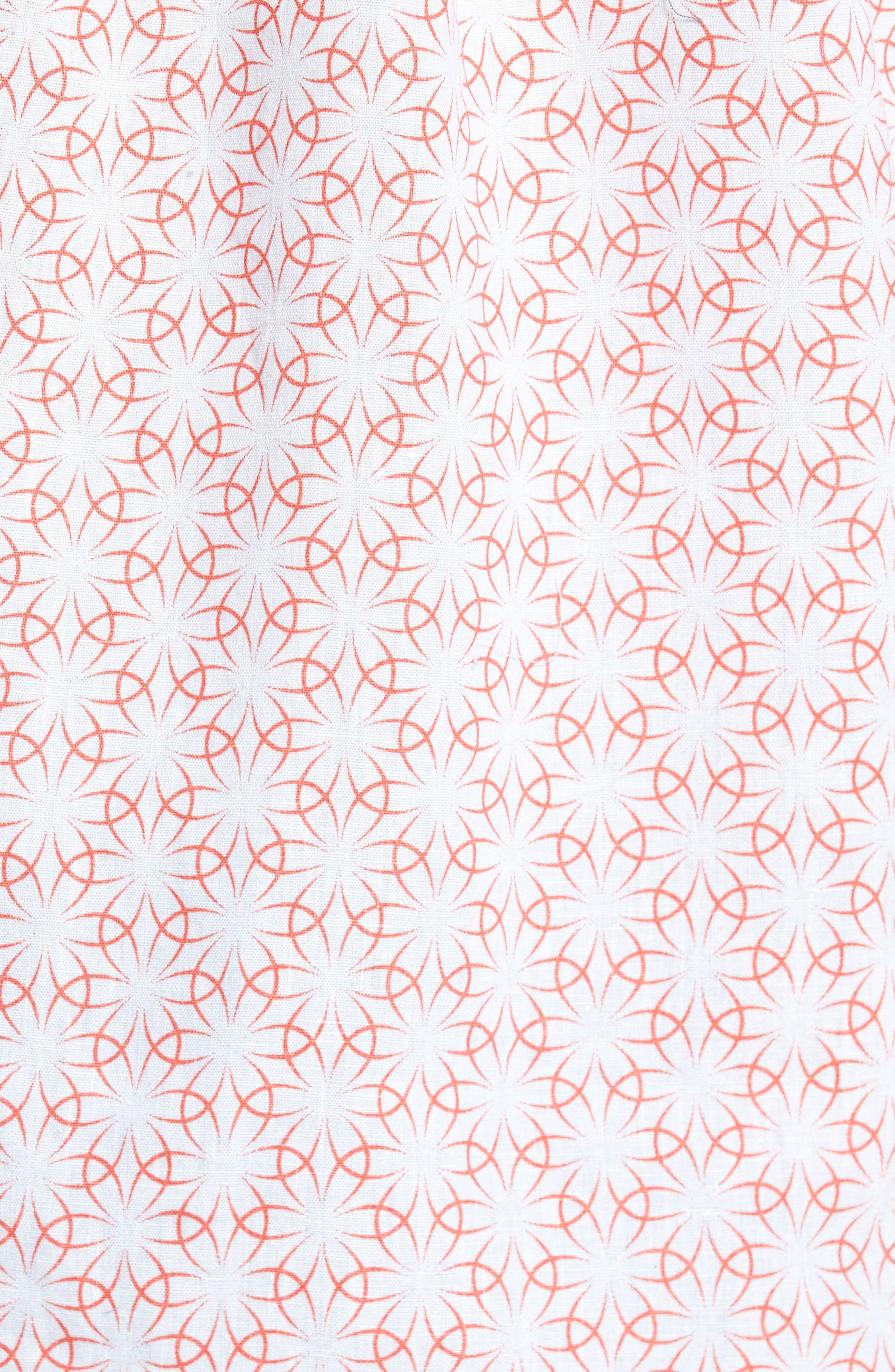 Gradient Flower Linen Sport Shirt,                             Alternate thumbnail 5, color,                             101
