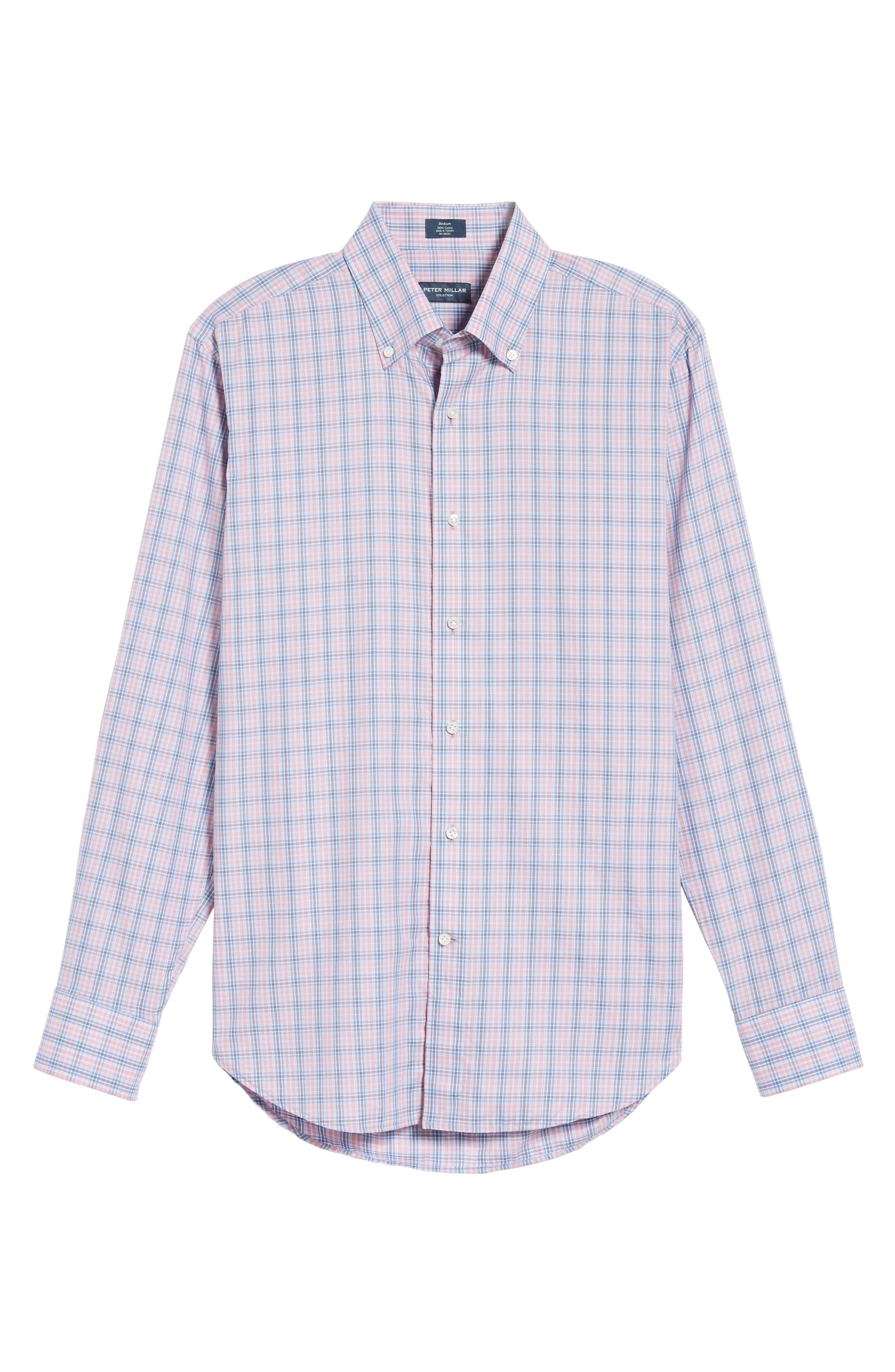 Peter Millar Desert Check Regular Fit Sport Shirt,                             Alternate thumbnail 6, color,                             617