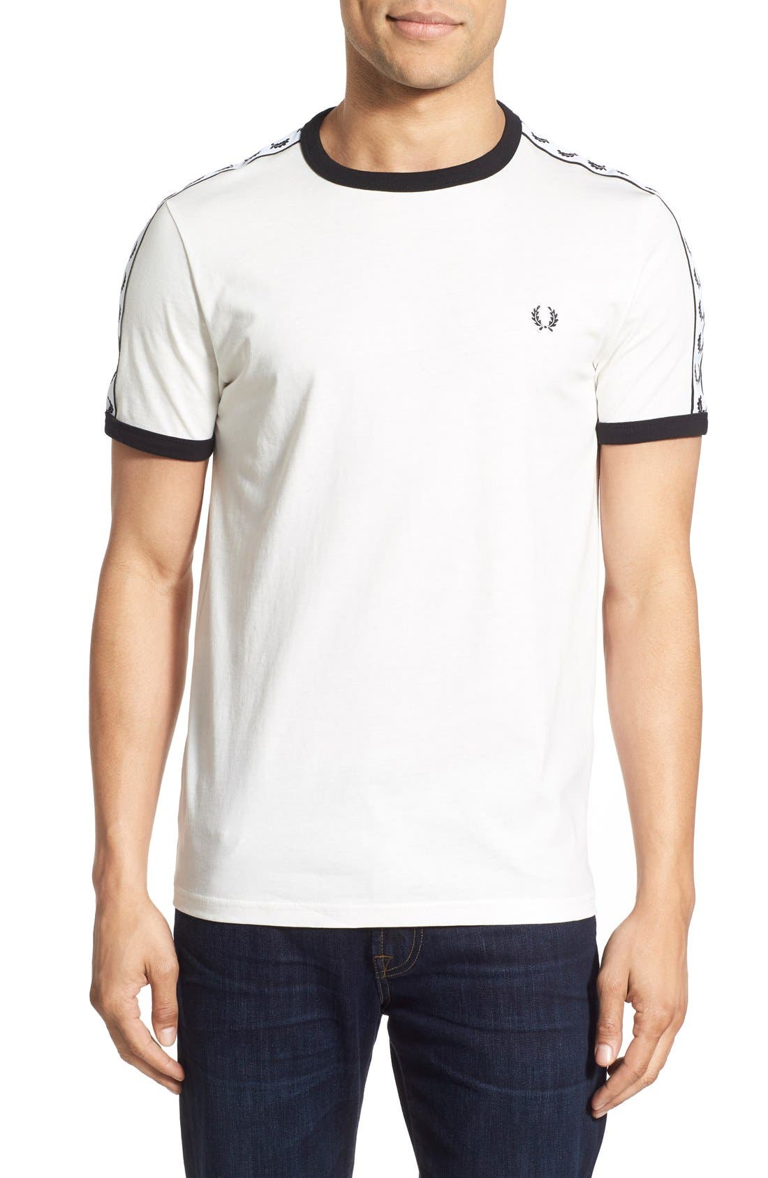 Extra Trim Fit Cotton Ringer T-Shirt,                             Main thumbnail 5, color,