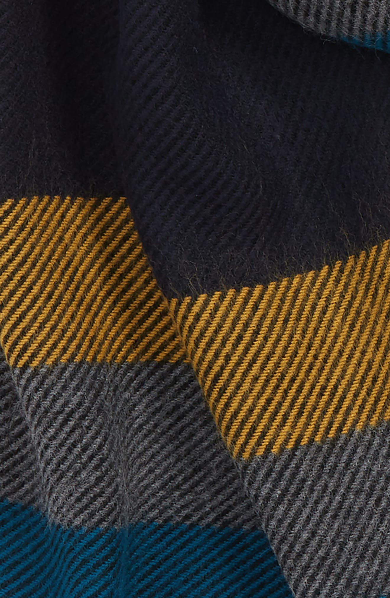 Striped Scarf,                             Alternate thumbnail 3, color,                             MUSTARD