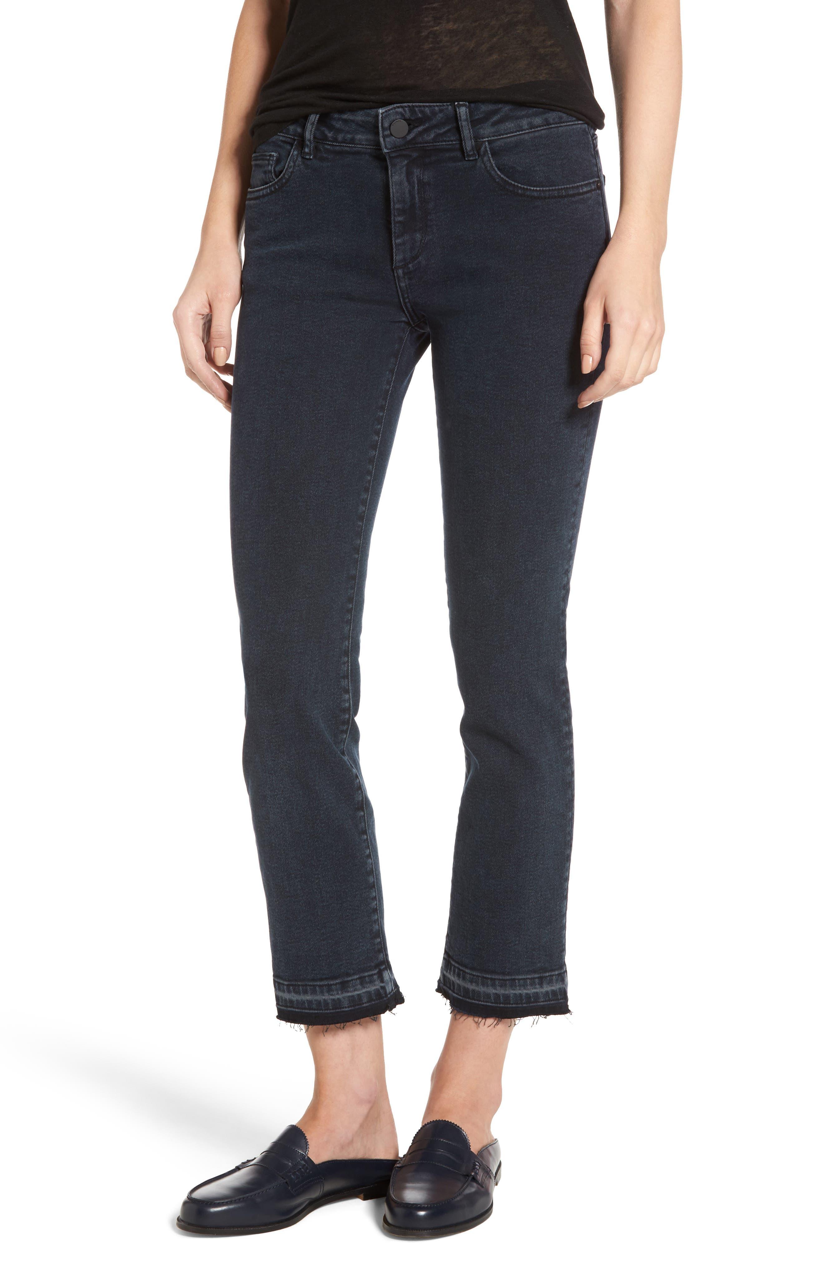 Mara Ankle Snap Straight Leg Jeans,                             Main thumbnail 1, color,                             416