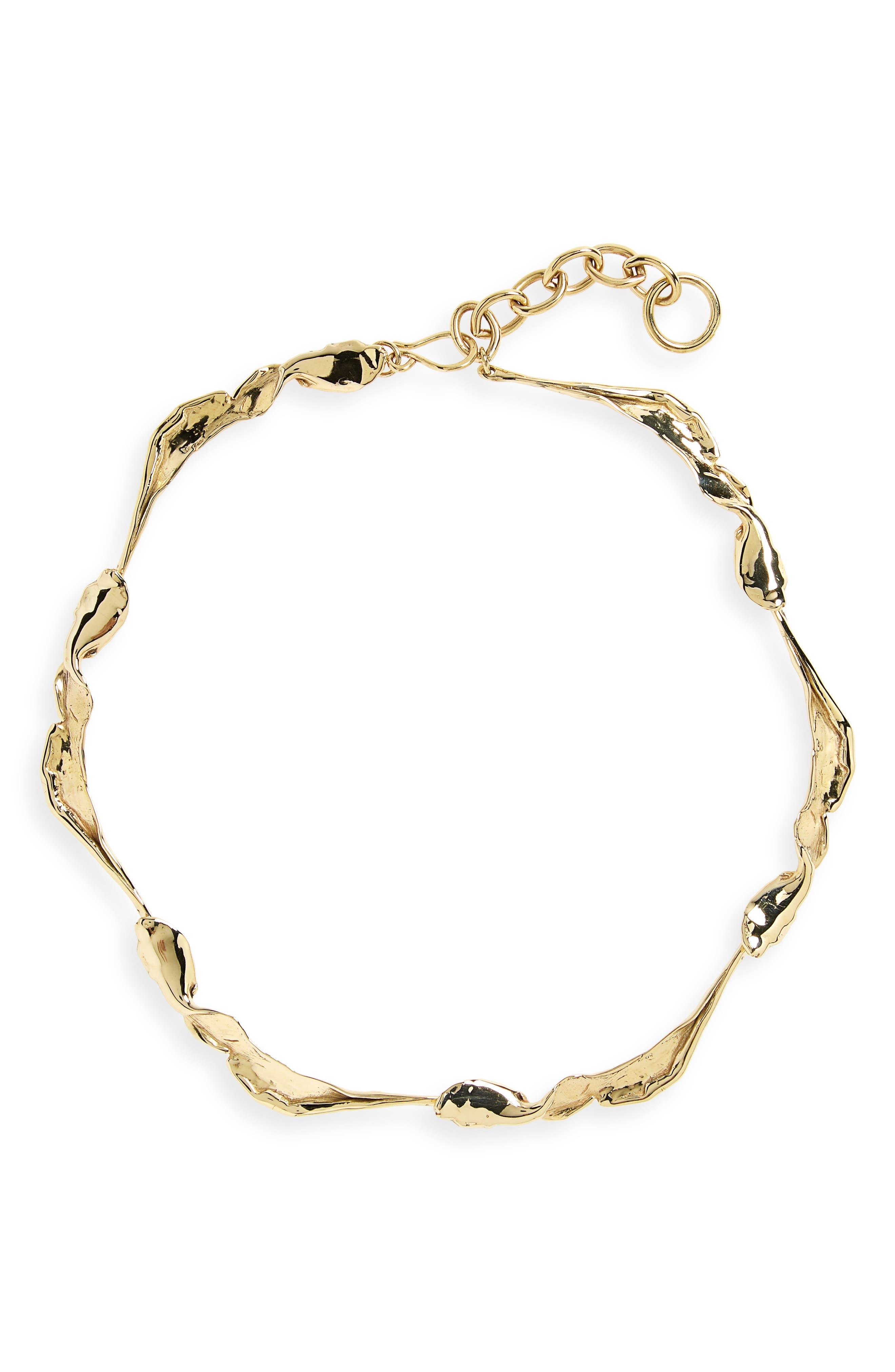 FARIS Folia Collar Necklace in Bronze