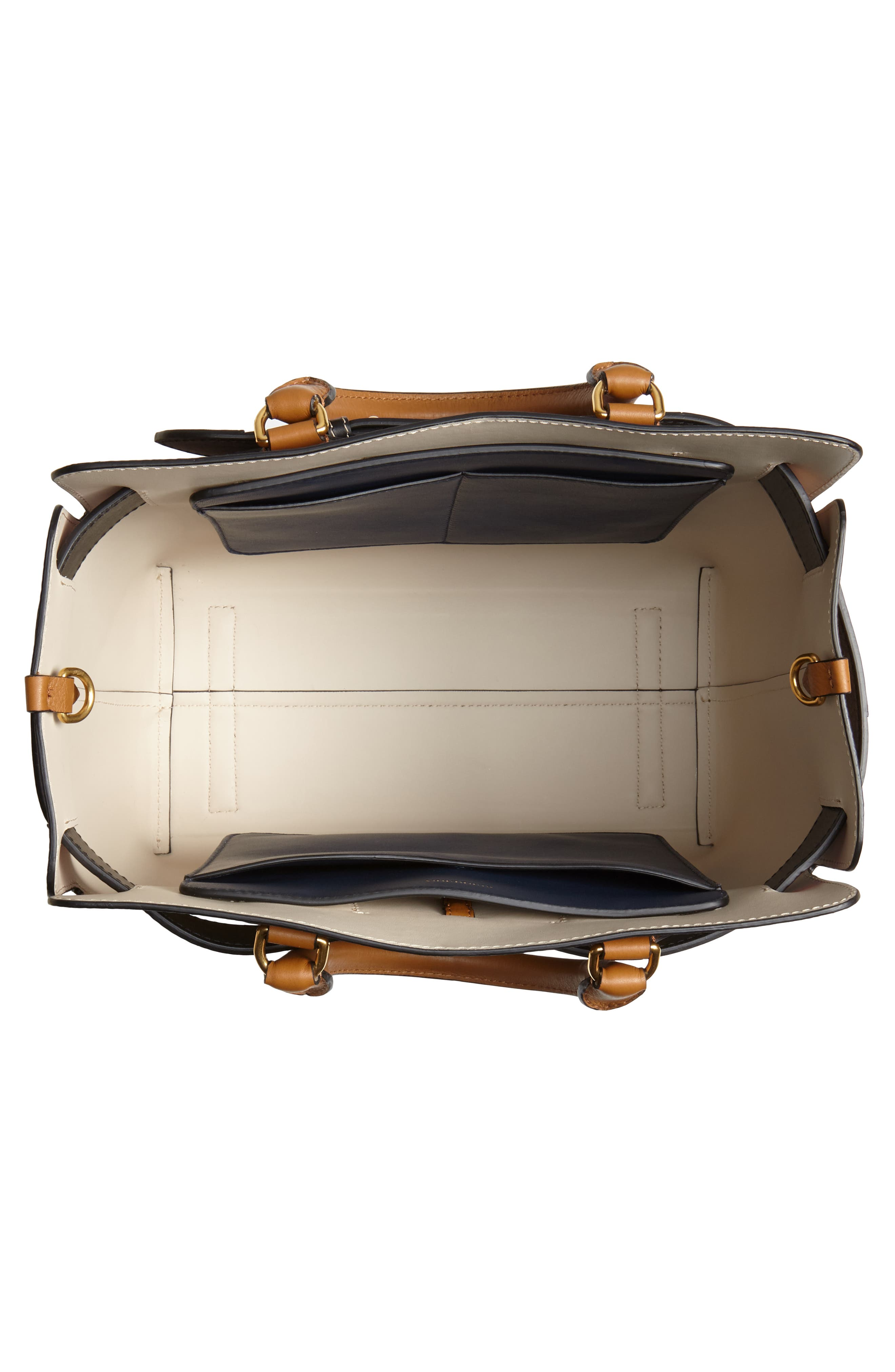 Medium Belt Bag Leather Tote,                             Alternate thumbnail 4, color,                             COGNAC