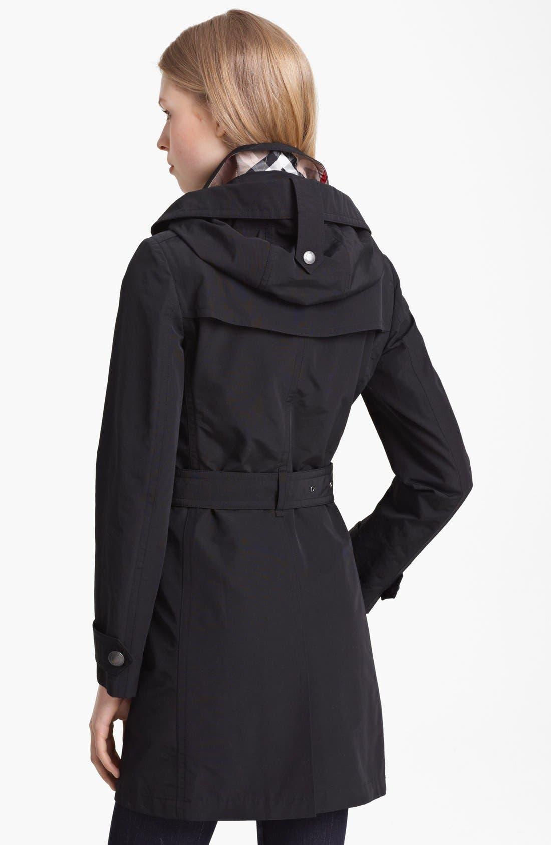 'Balmoral' Trench Coat,                             Alternate thumbnail 3, color,                             001