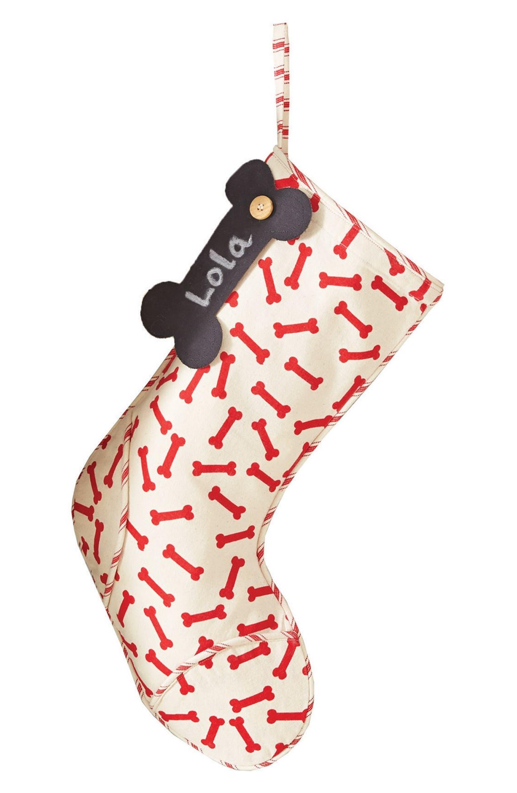 Mud Pie \'Dog Bone\' Christmas Stocking   Nordstrom
