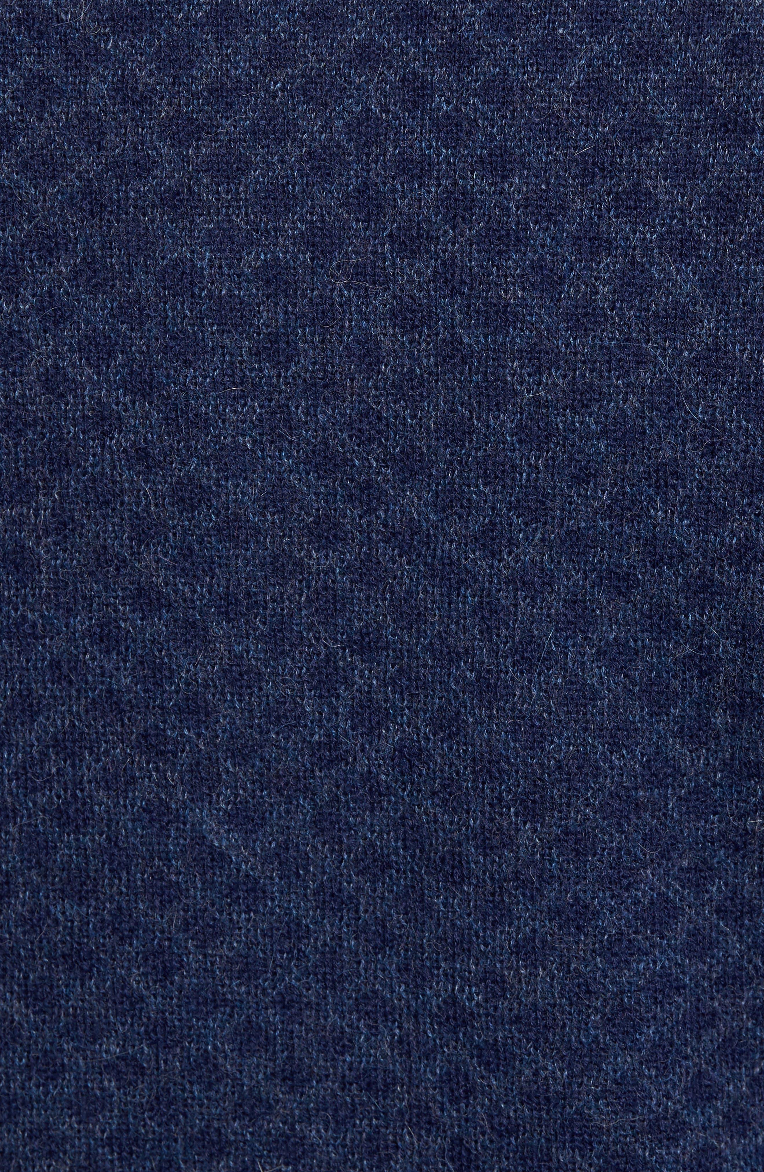 Diamond Quarter Zip Alpaca Sweater,                             Alternate thumbnail 10, color,
